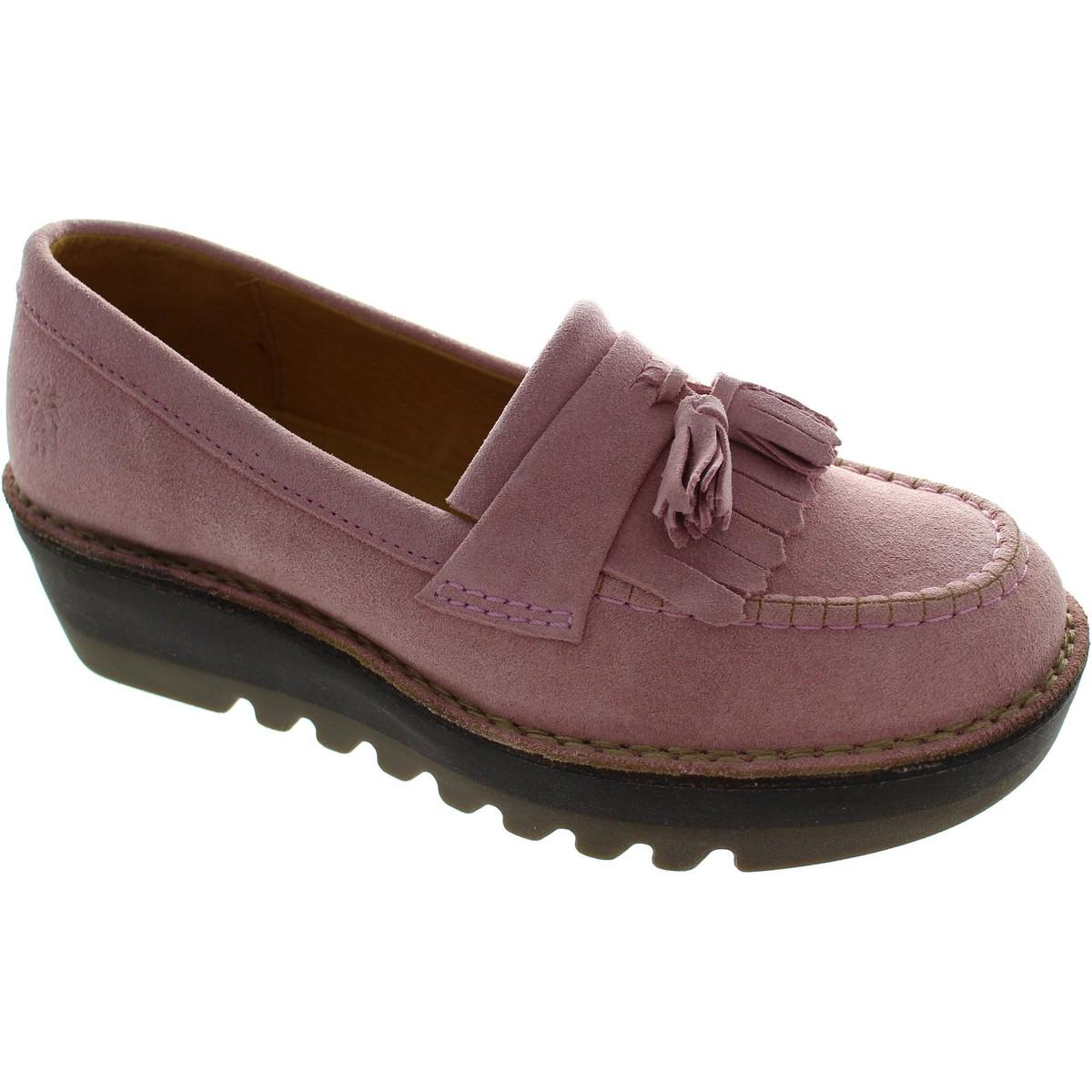e2a9c011db8 Fly London Juno Women s Loafers   Casual Shoes In Pink in Pink - Lyst