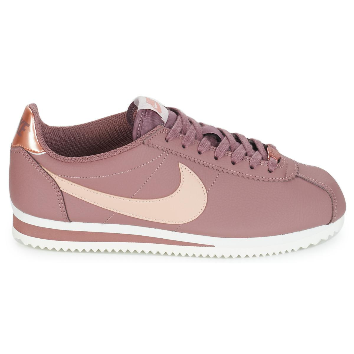 d491b1a18e Nike Classic Cortez Leather W Shoes (trainers) in Pink - Lyst
