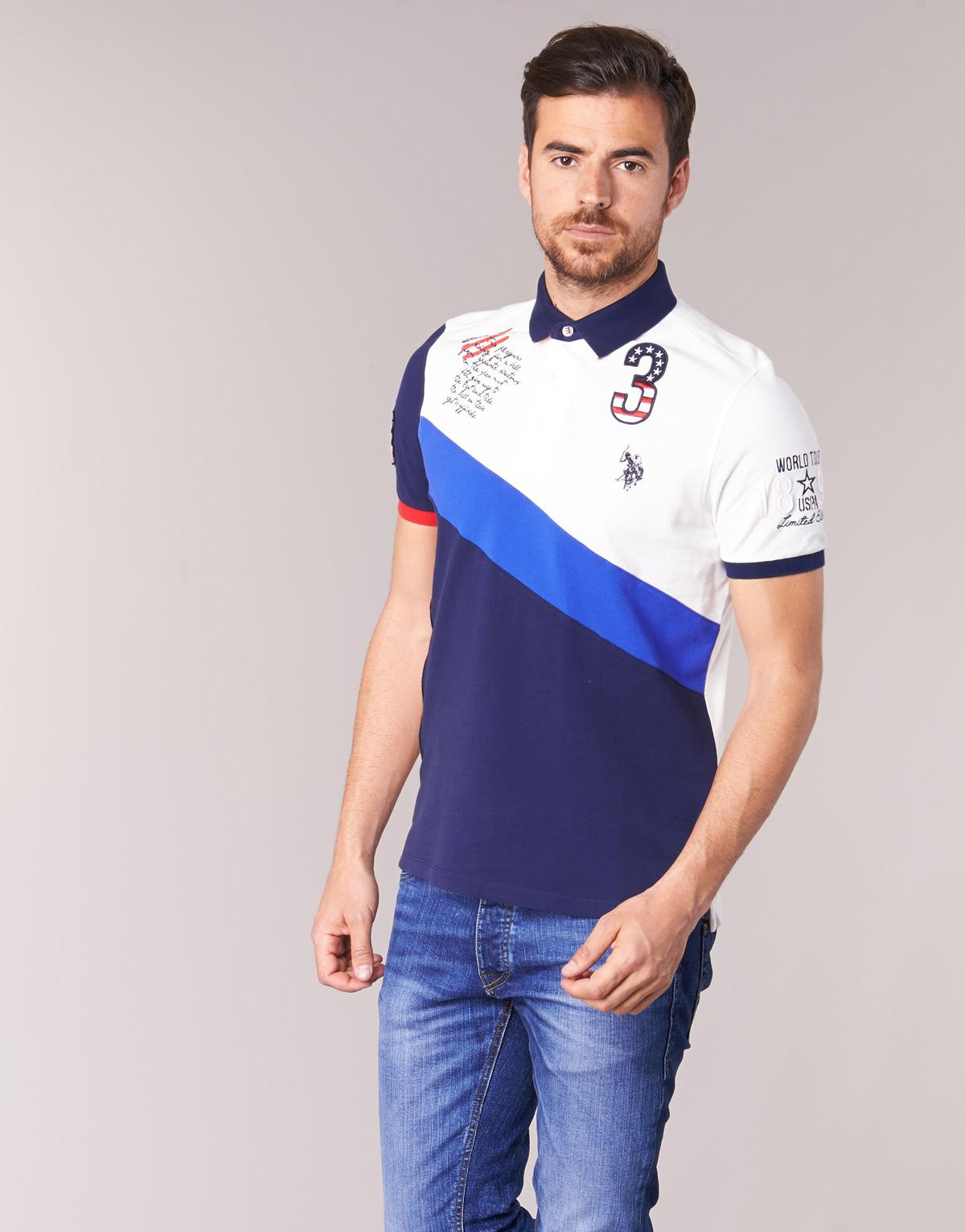 Us Polo Assn King Of Sports Polo Mens Polo Shirt In Blue In Blue