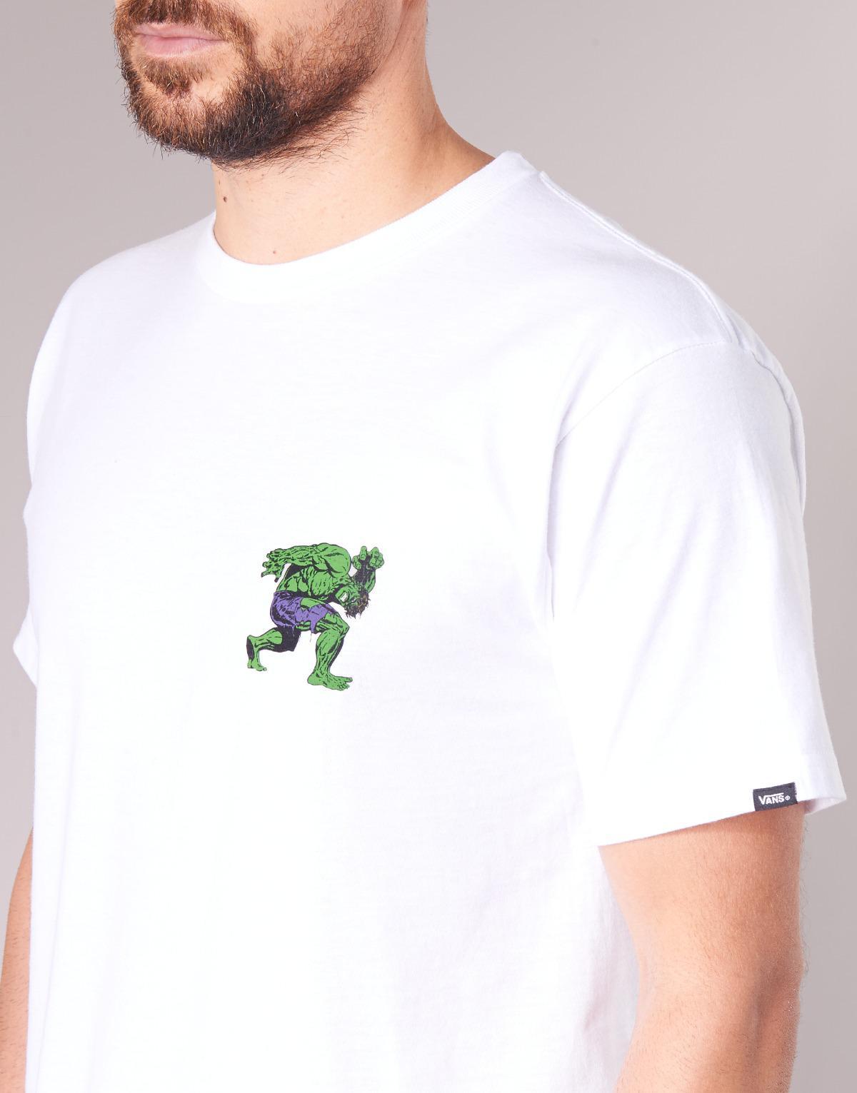 bdc8941a00 Vans X Marvel Hulk Ss T Shirt in White for Men - Lyst