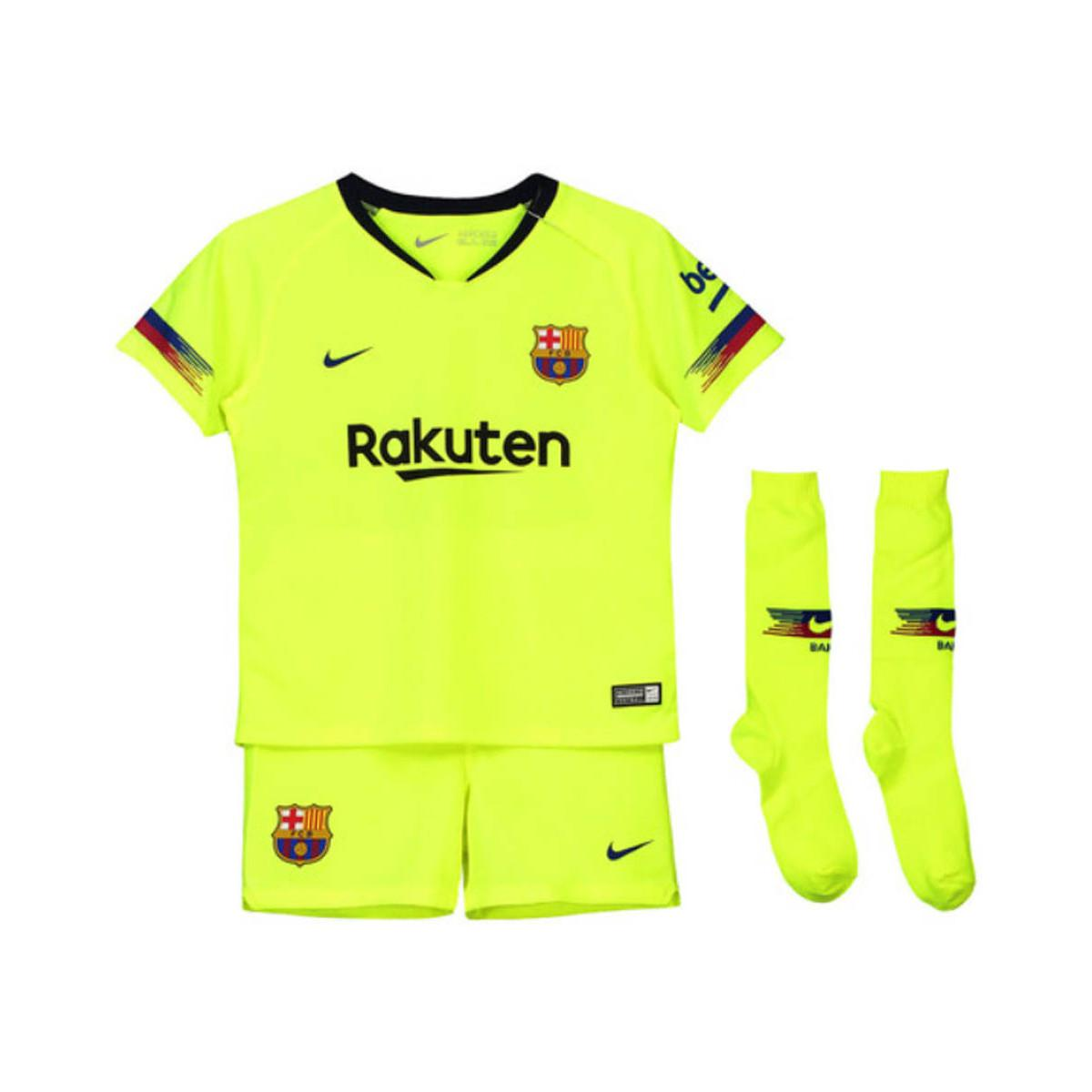 f306faf21 Nike 2018-2019 Barcelona Away Little Boys Mini Kit (messi 10 ...