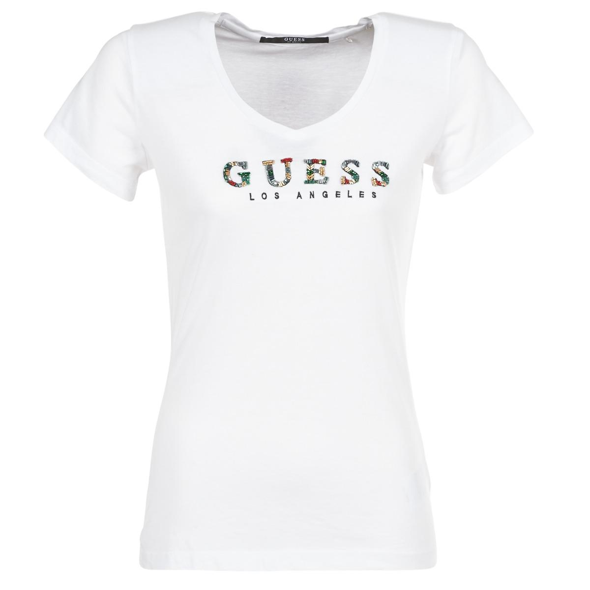 b12e7cf605bf Guess Gipsy T Shirt in White - Lyst