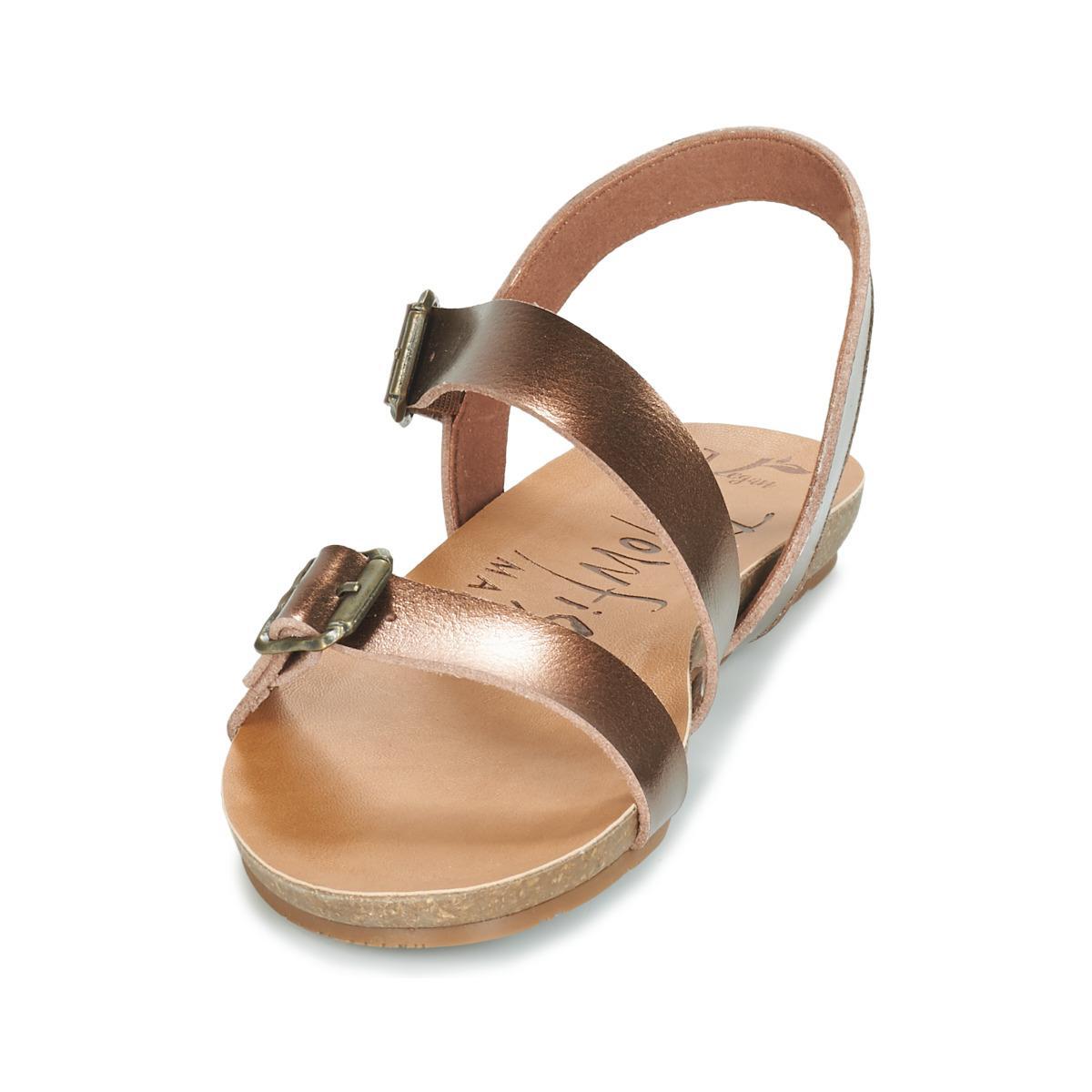 0f0a0c8996f Blowfish Malibu - Metallic Gallup Women s Sandals In Gold - Lyst. View  fullscreen