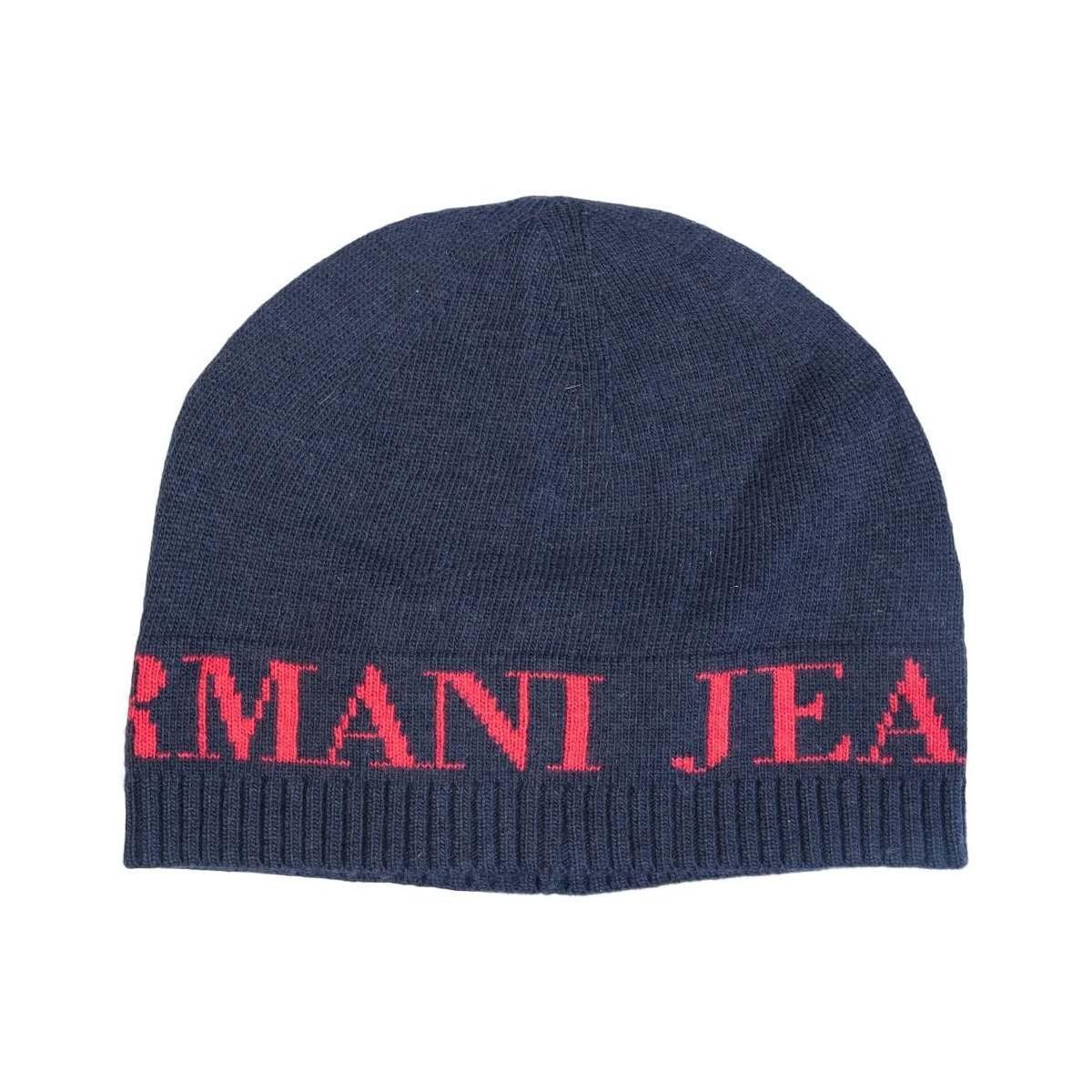 31055f7b5da Armani Jeans. Gift Set Hat And Scarf 937503 Cc783 Men s Beanie In Blue