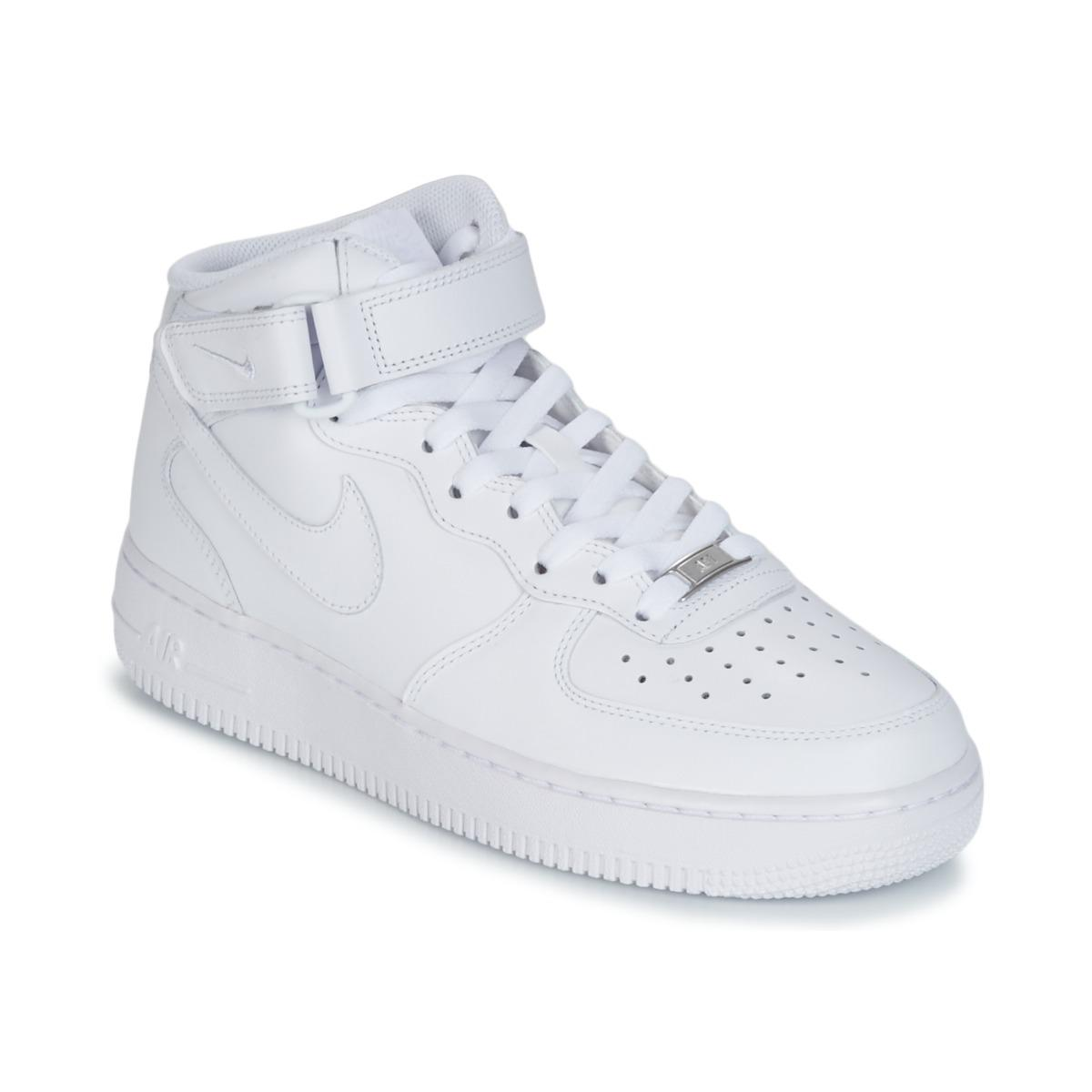 ff8ab019e Nike Air Force 1 Mid 07 Leather Shoes (high-top Trainers) in White ...