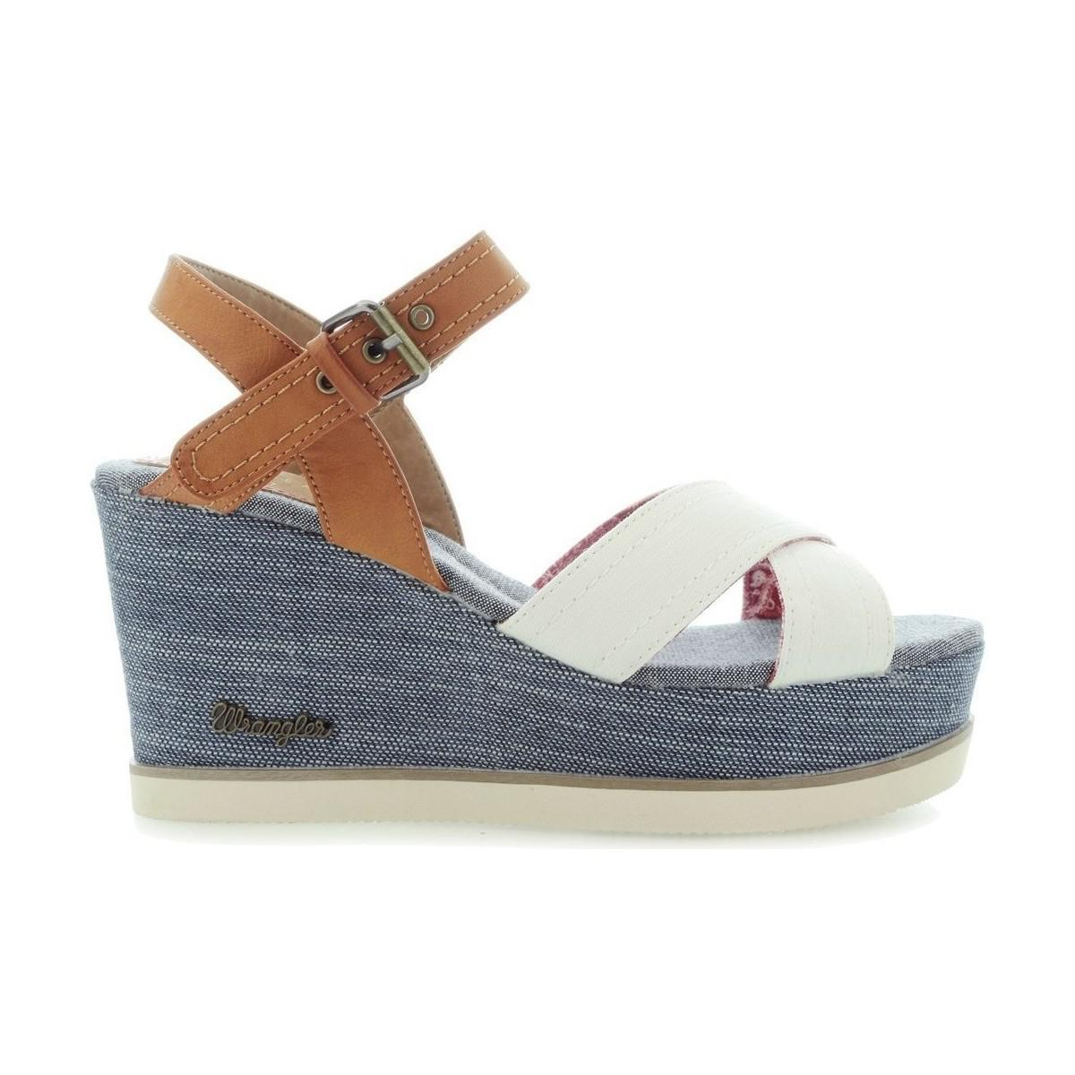 505036efeeb8 Wrangler Jeena Indigo Cross Wl171680 Women s Sandals In Blue in Blue ...