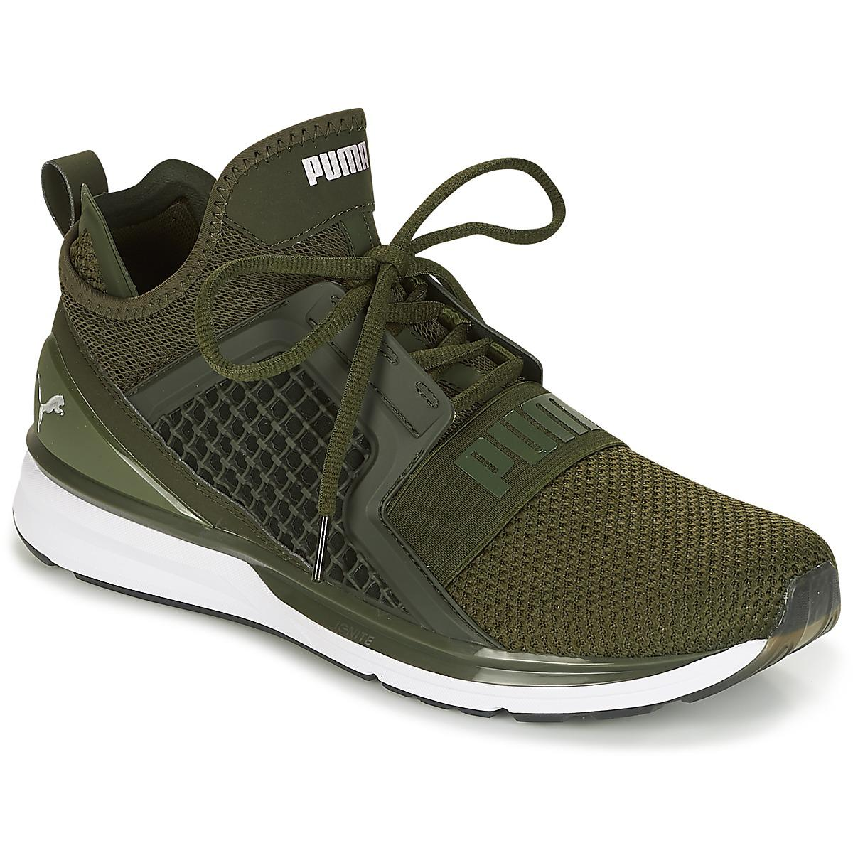 a3d92a0090a Puma ignite limitless weave running trainers in green for men lyst jpg  1200x1200 Ignite pumas green