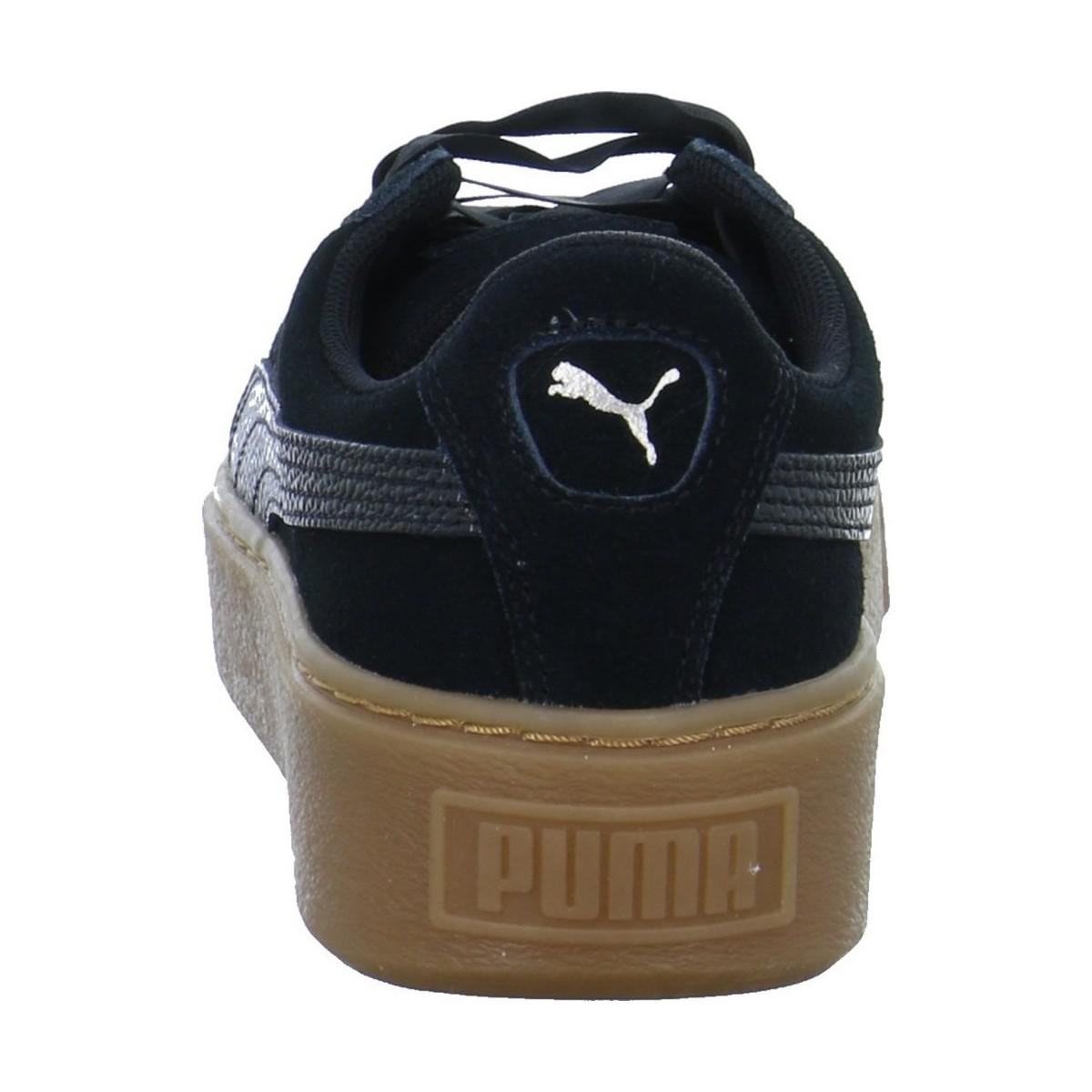 9e3e71545da5 PUMA - Suede Platform Bubble Wns Women s Shoes (trainers) In Black - Lyst.  View fullscreen