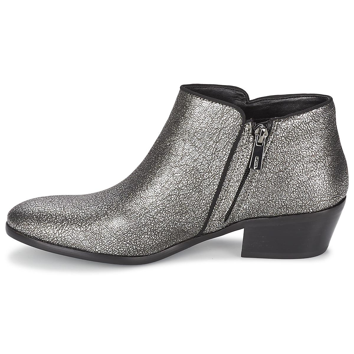13afbc2272bd34 ... Sam Edelman - Metallic Petty Cracked-Leather Ankle Boots - Lyst pretty  nice 5aef4 b579e ...