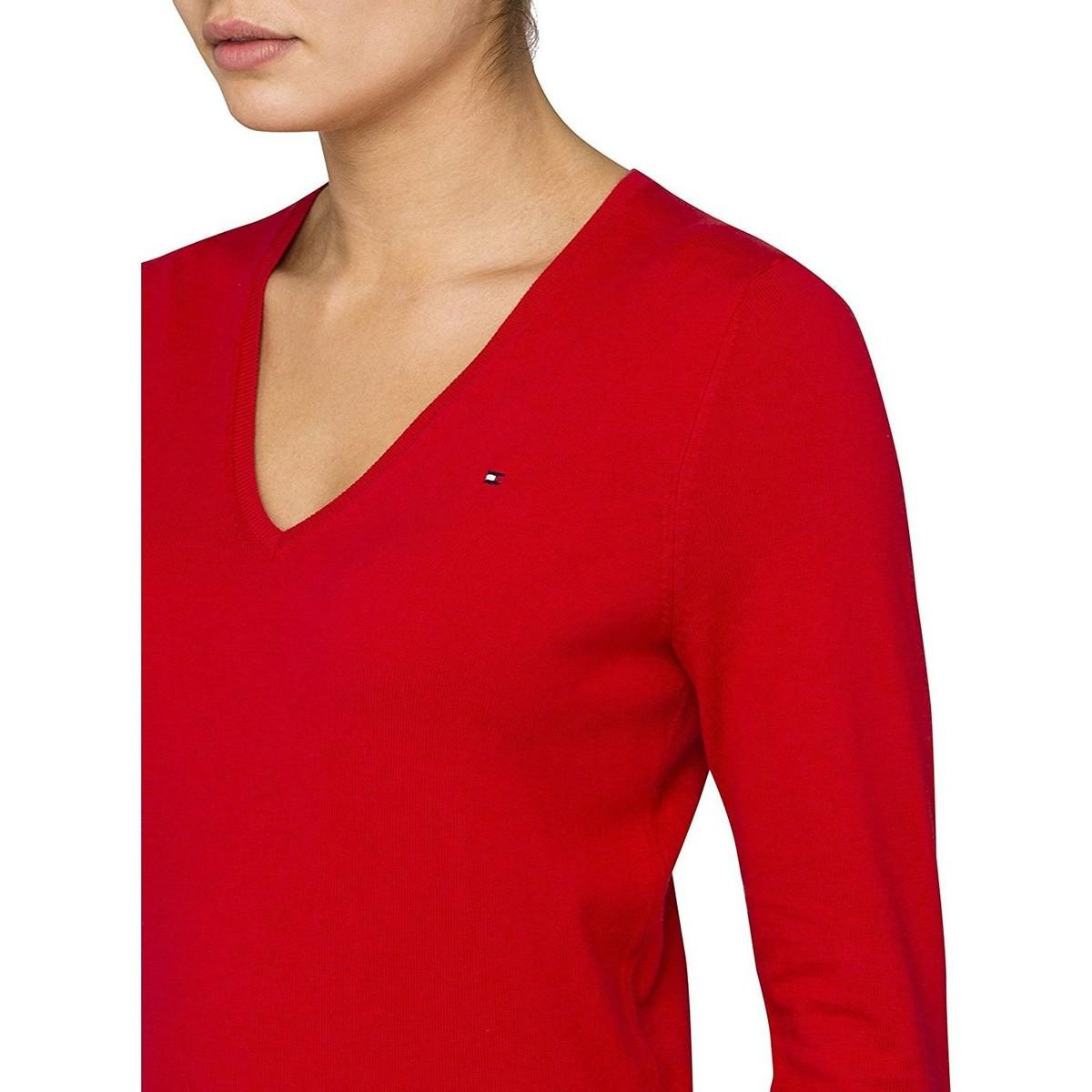 e676e2a0 Tommy Hilfiger - Women's V-neck Knit Sweater Ivy Women's Sweater In ...