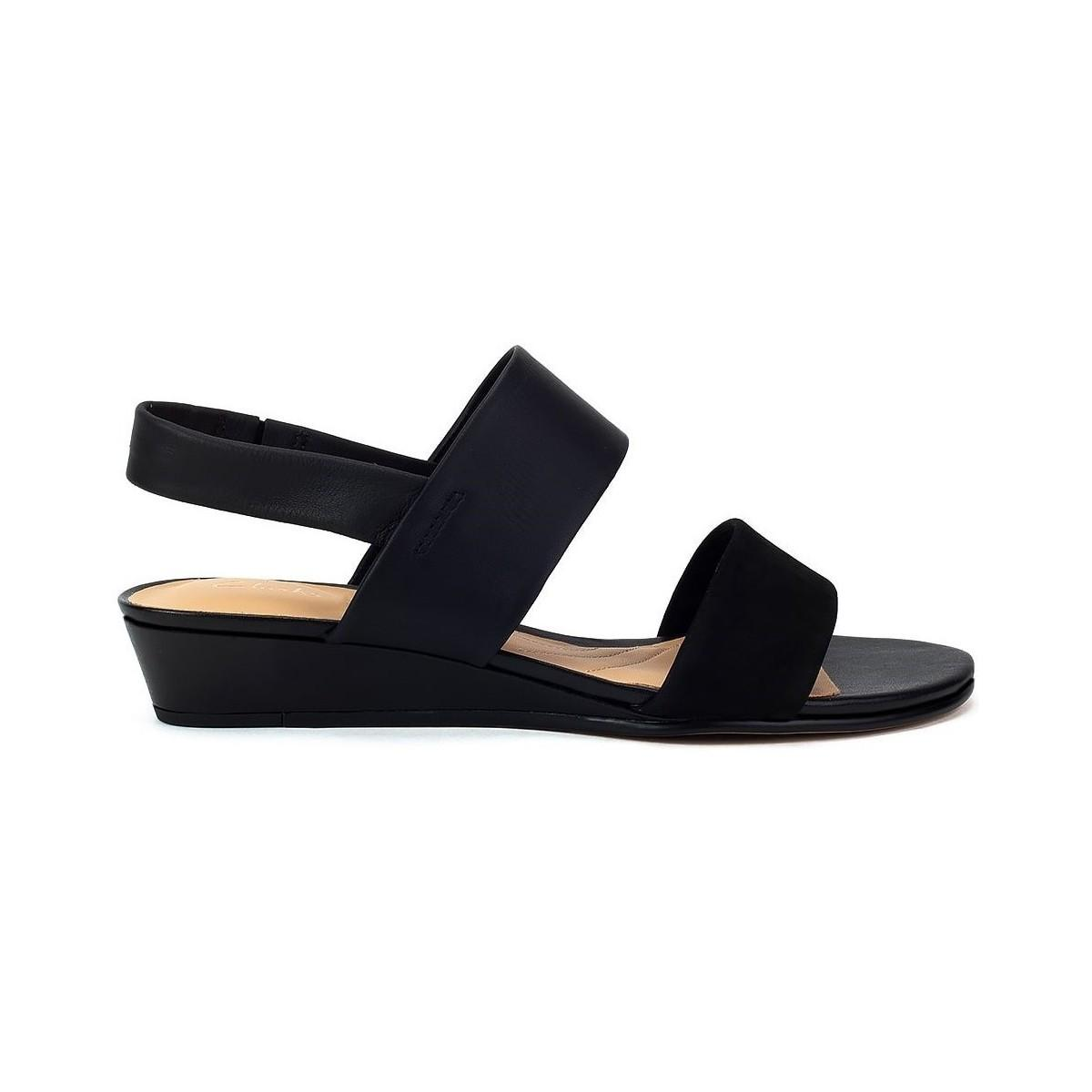 28cbd39f1c09 Clarks Sense Lily Women s Sandals In Black in Black - Lyst