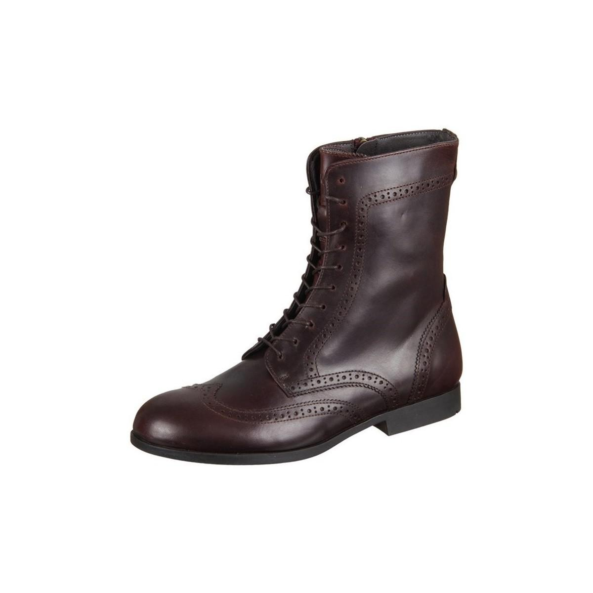 17f6a0e0246ba Birkenstock Laramie Mahagoni Natural Leather Women's High Boots In ...