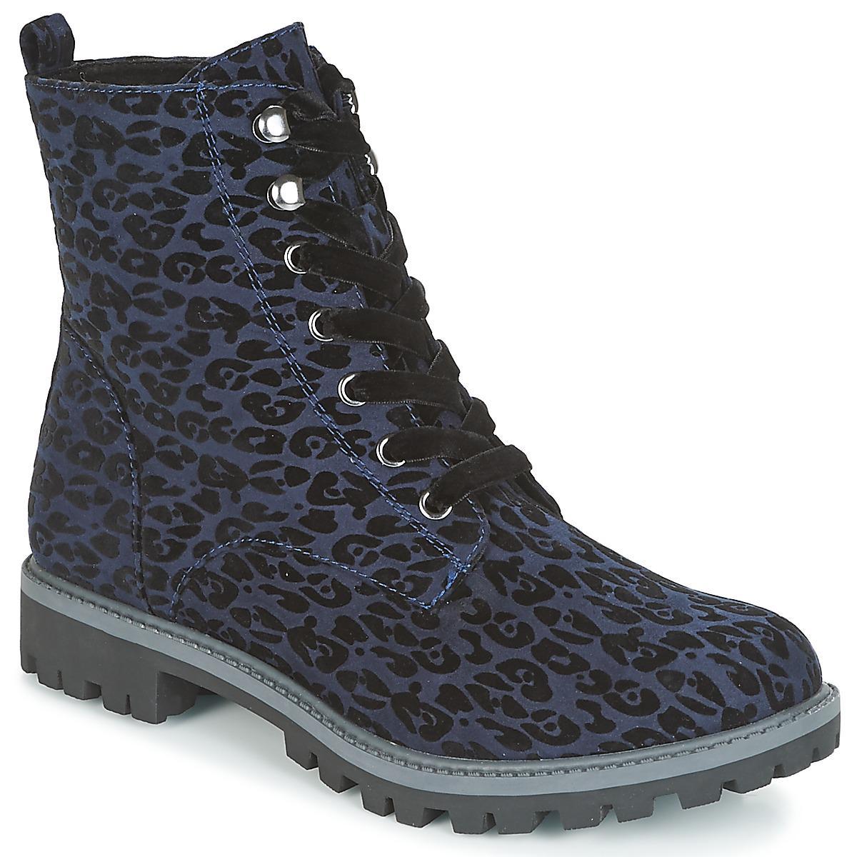 Lyst - ALVINI femmes Boots en bleu Tamaris en coloris Bleu ... aa1f9b9524d
