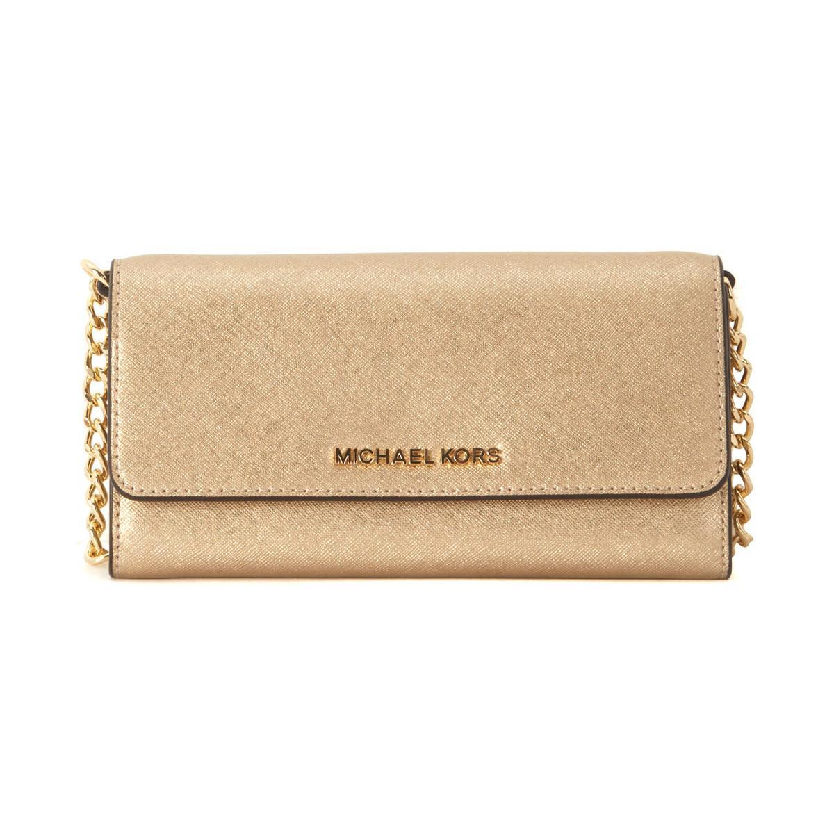 0239deb07d82 ... low price michael michael kors jet set golden leather pochette mens  shoulder 4f431 b05a3