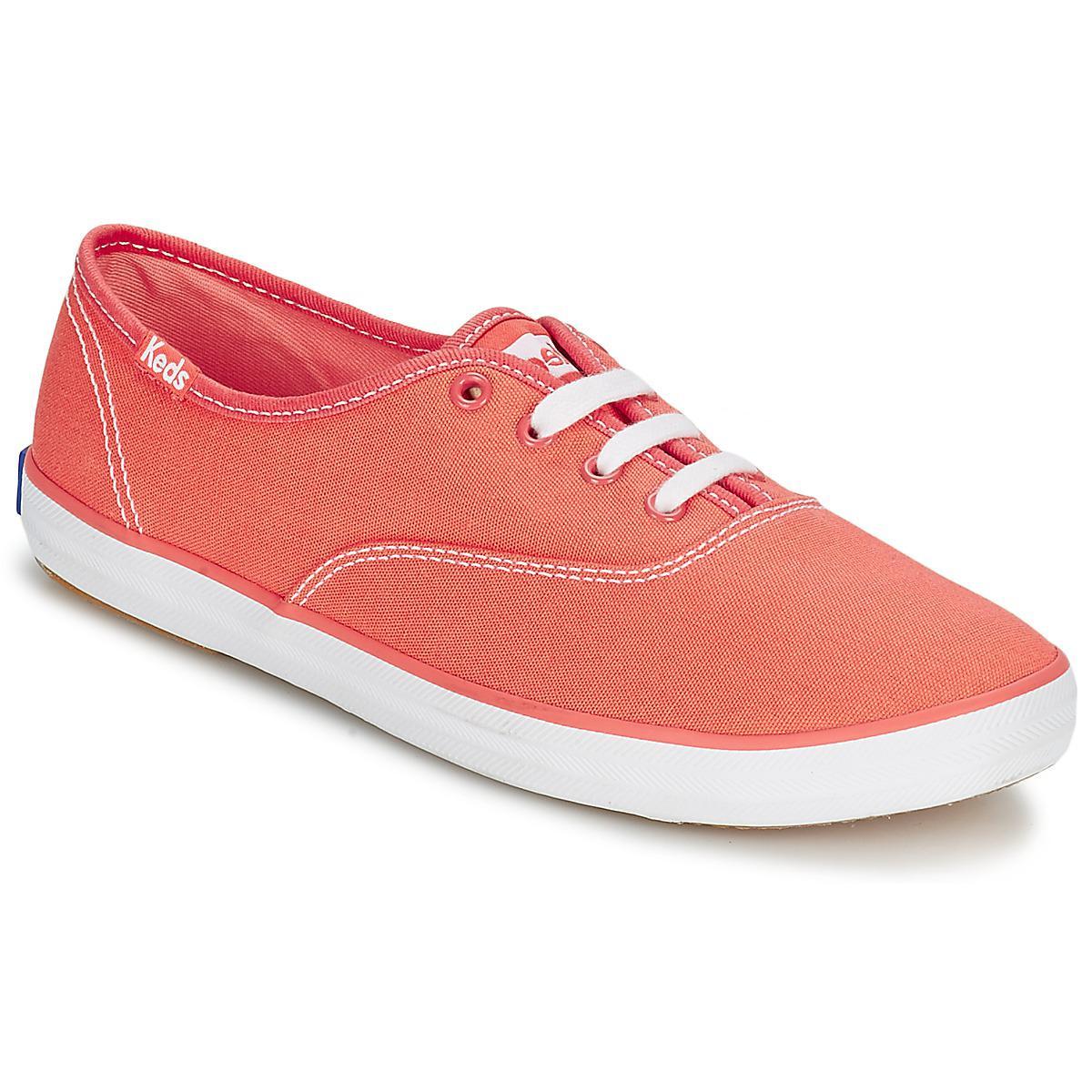 595dead79d419 Keds Champion Seasonal Women s Shoes (trainers) In Orange in Orange ...