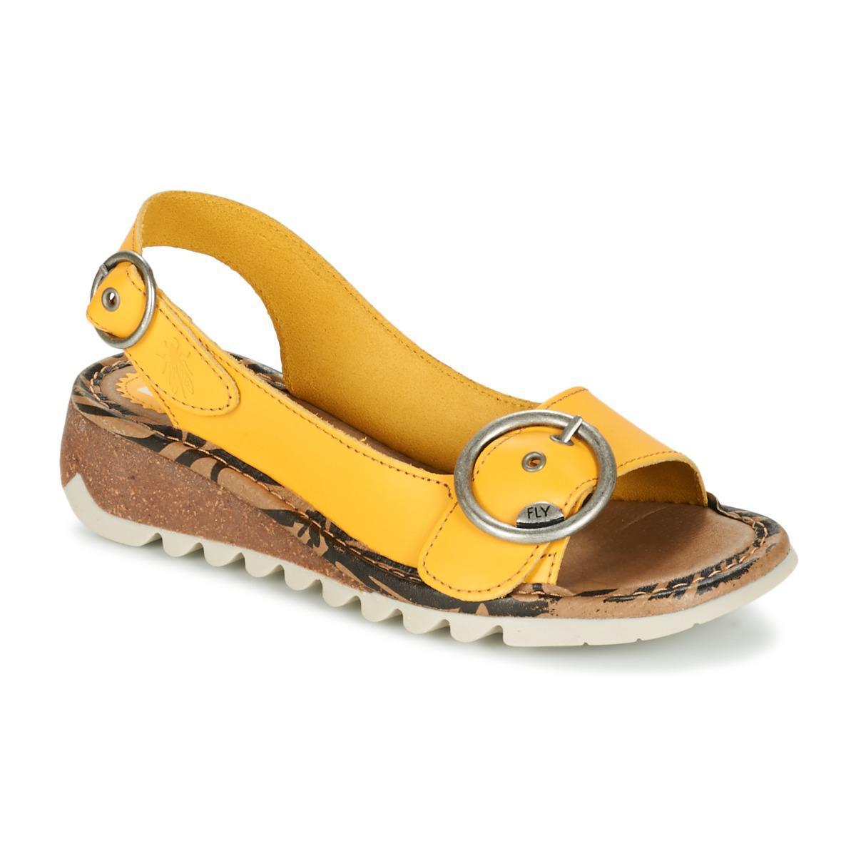 Fly London. Tram Women's Sandals In Yellow