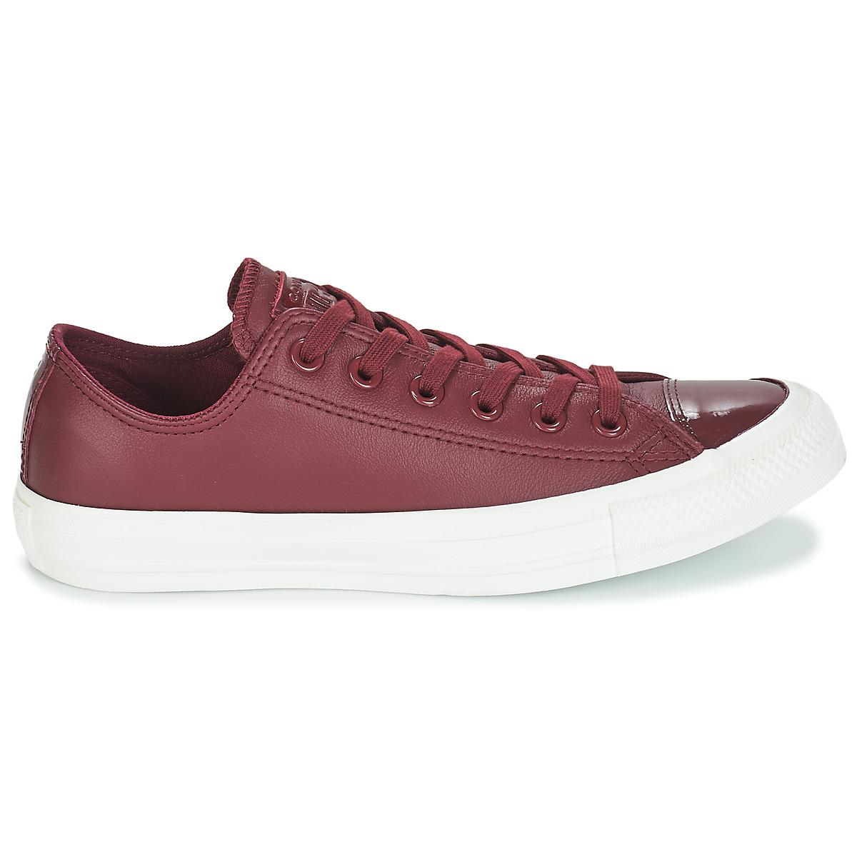 69155361aedf Converse - Red Chuck Taylor All Star Leather Ox Shoes (trainers) - Lyst.  View fullscreen