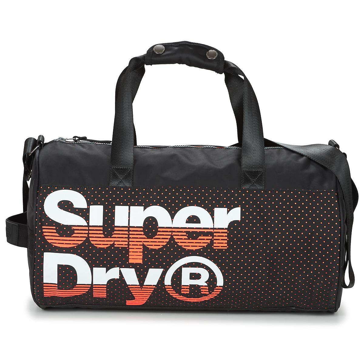 88b3cf42f0 Superdry Nue Wave Lineman Barrel Men's Sports Bag In Black in Black ...