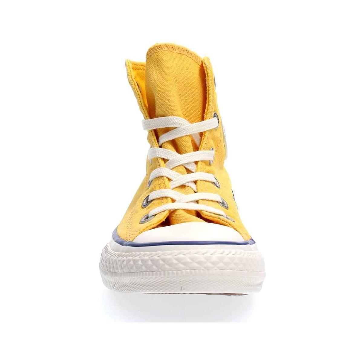 Lyst Chuck Taylor En Converse Femmes Chaussures Hi 661014c Jaune rHxfwqTr