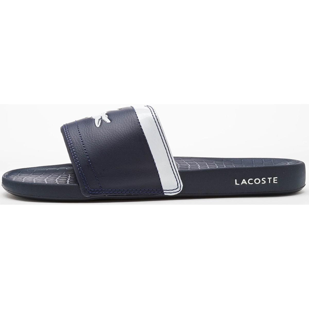 66c6adb62aa0 Lacoste Fraisier Brd1 Us Spm Slide Pool Beach Sandals In Blue ...