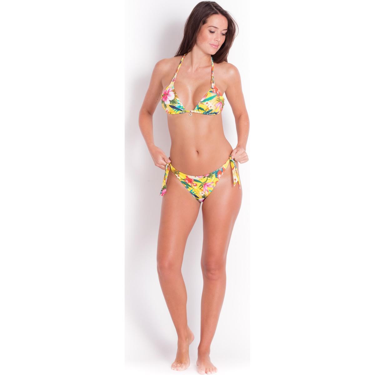 Yellow, Triangle bikini top - Yero Corozal Banana Moon