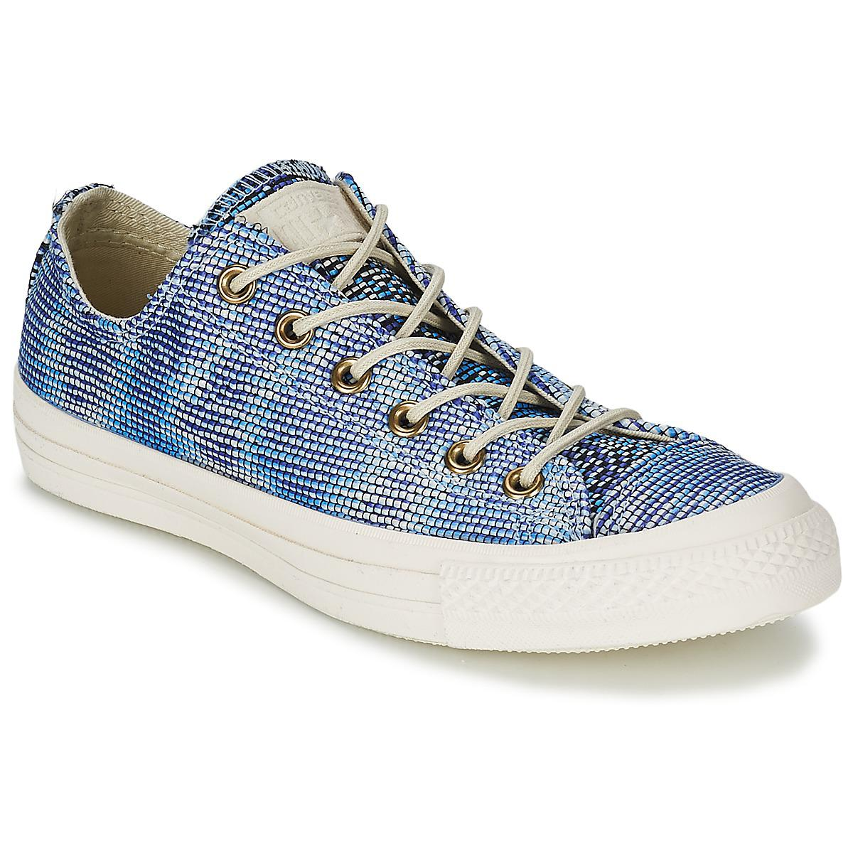 3c6bc668124b8b Converse All Star Basket Weave Ox Shoes (trainers) in Blue - Save 46 ...