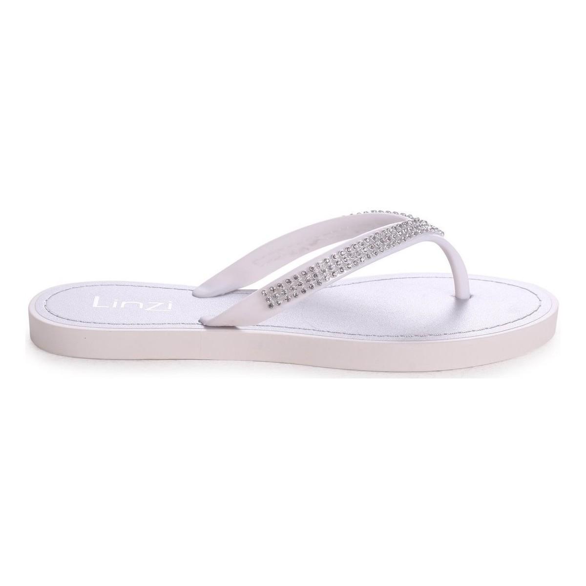 0a9c891b5 Linzi Cher Women s Flip Flops   Sandals (shoes) In White in White - Lyst