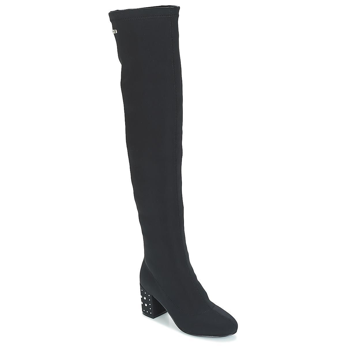 In Belarbi M Black Boots High Claus Women's Tropéziennes Les Par q7a8aZ