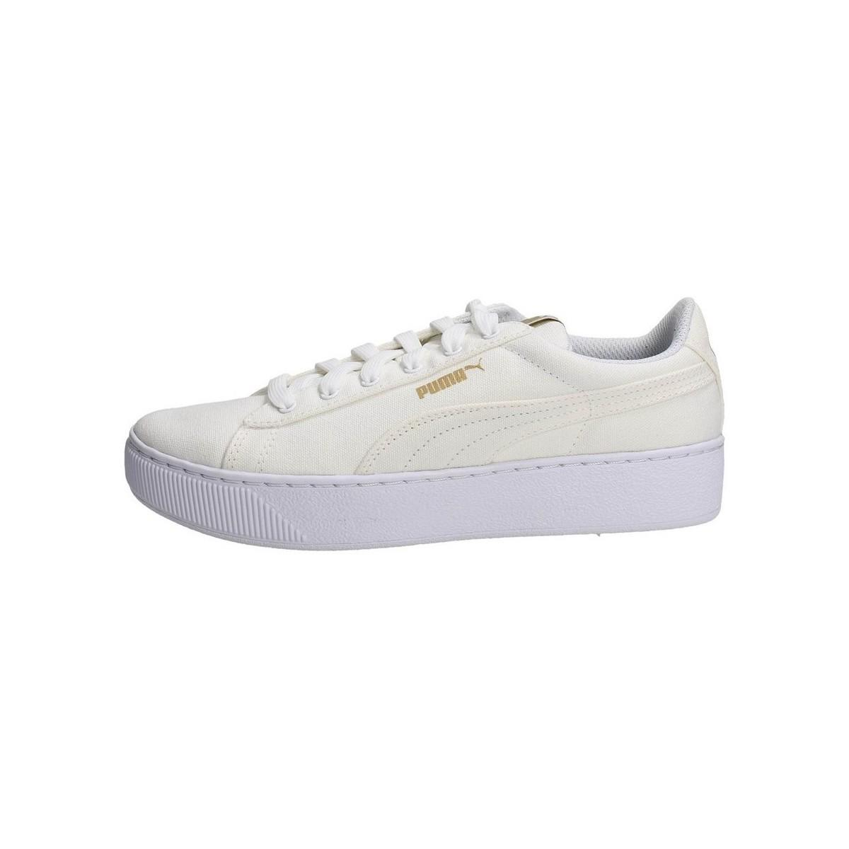 5298890b9c7 Puma Vikky Platform Women s Shoes (trainers) In White in White - Lyst