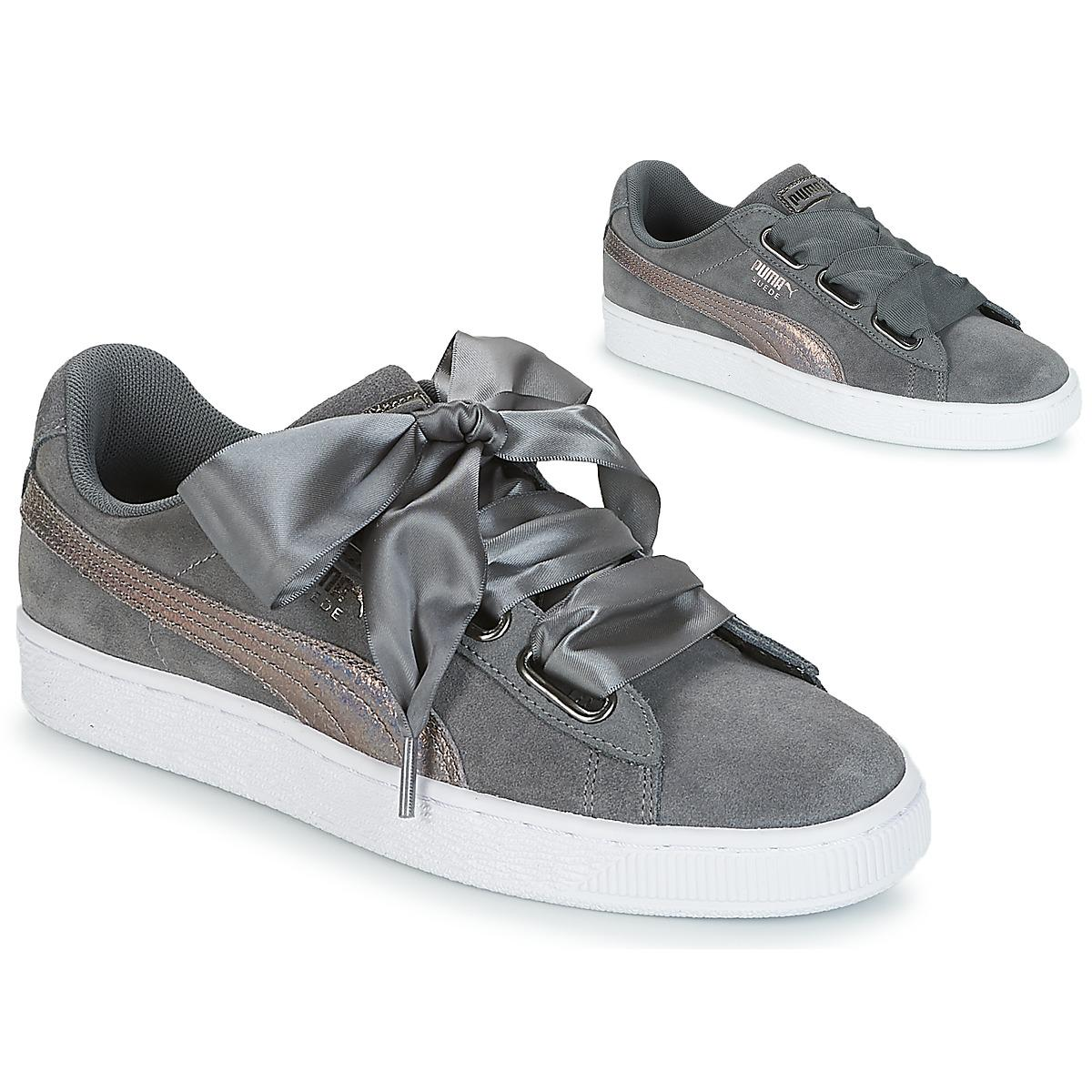 bbeeb5014f073b PUMA Suede Heart Lunalux Wn s Smoked Pearl in Gray - Lyst