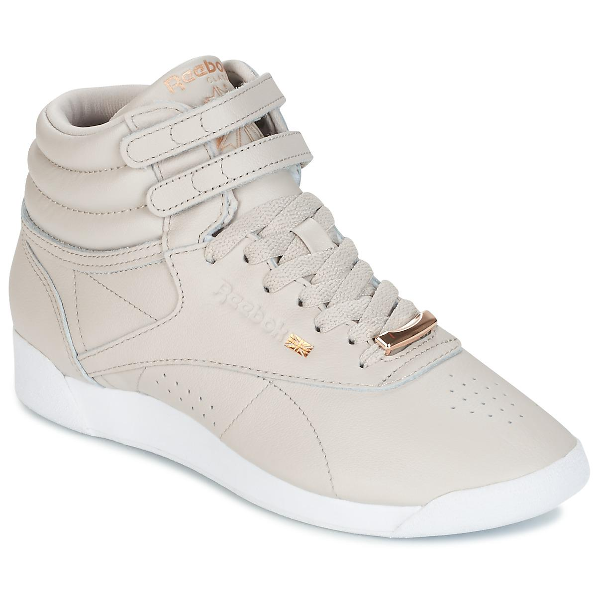 5dfc678928d Reebok F s Hi Muted Women s Shoes (trainers) In Beige in Natural - Lyst