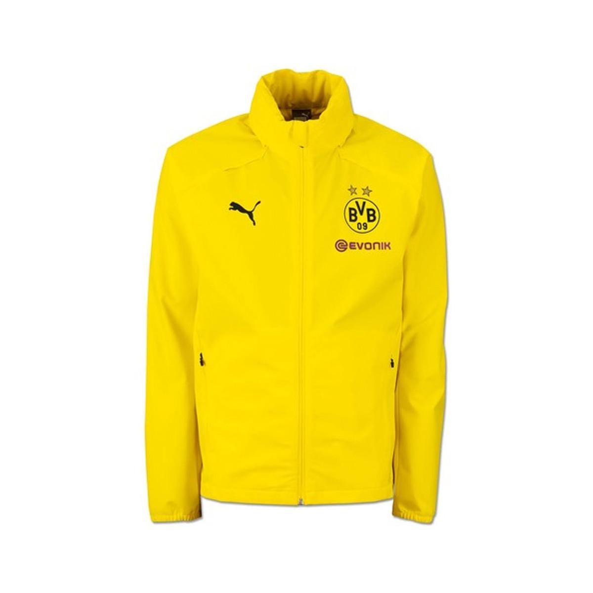 6c64e77c0208 PUMA 2018-2019 Borussia Dortmund Rain Jacket - Kids Men s Tracksuit ...