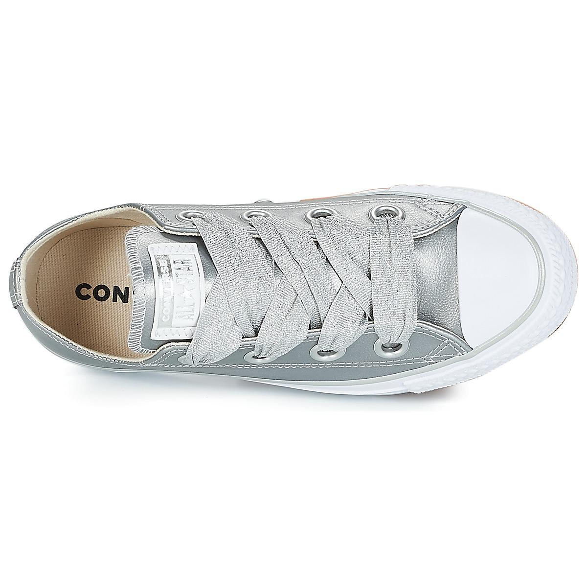 eb364847b652 Converse Chuck Taylor All Star Big Eyelets Ox Shoes (trainers) in Metallic  - Lyst