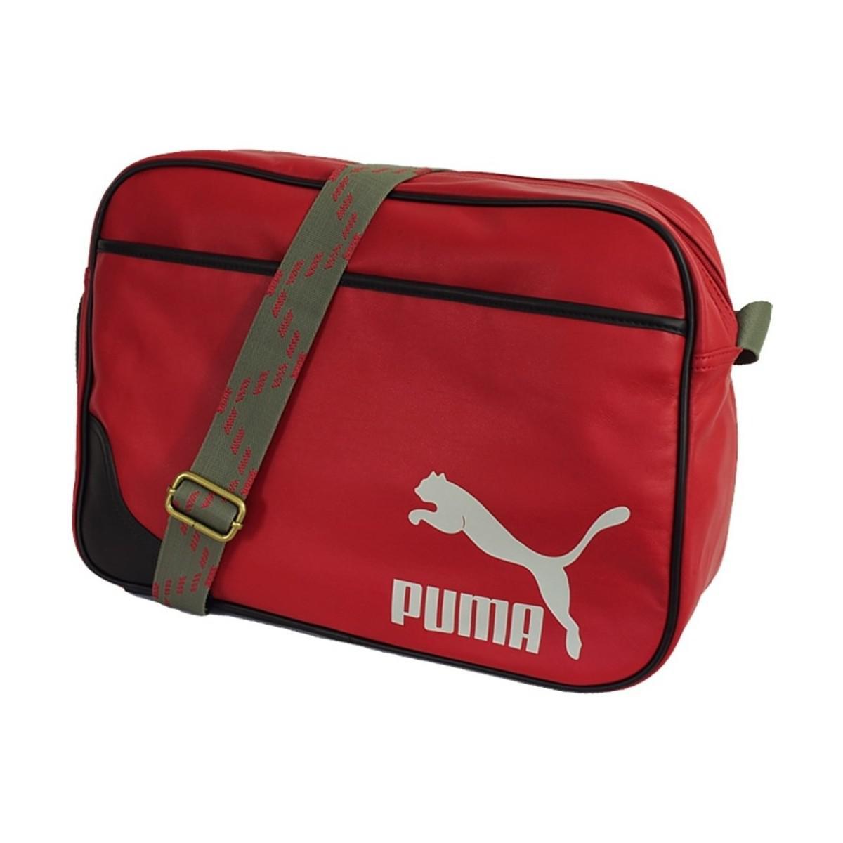aa6fb4712e0e PUMA Originals Reporter Men s Messenger Bag In Red in Red for Men - Lyst