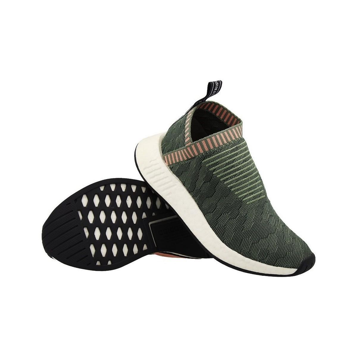 buy online 41aee 8c9d1 Adidas - Nmd Cs2 Primeknit Women s Shoes (trainers) In Green - Lyst. View  fullscreen