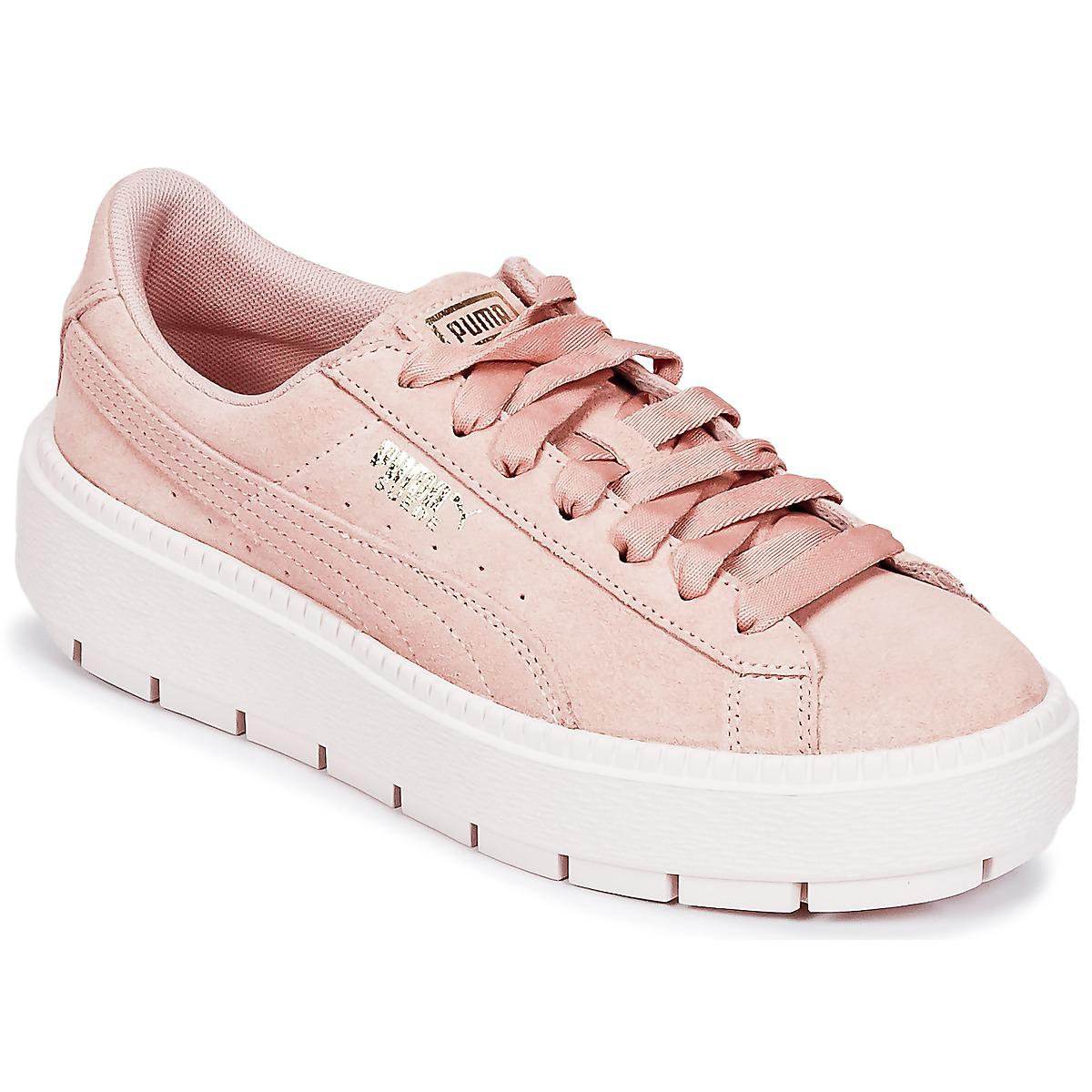 9d604231283 PUMA Suede Platform Trace W s Women s Shoes (trainers) In Pink in ...