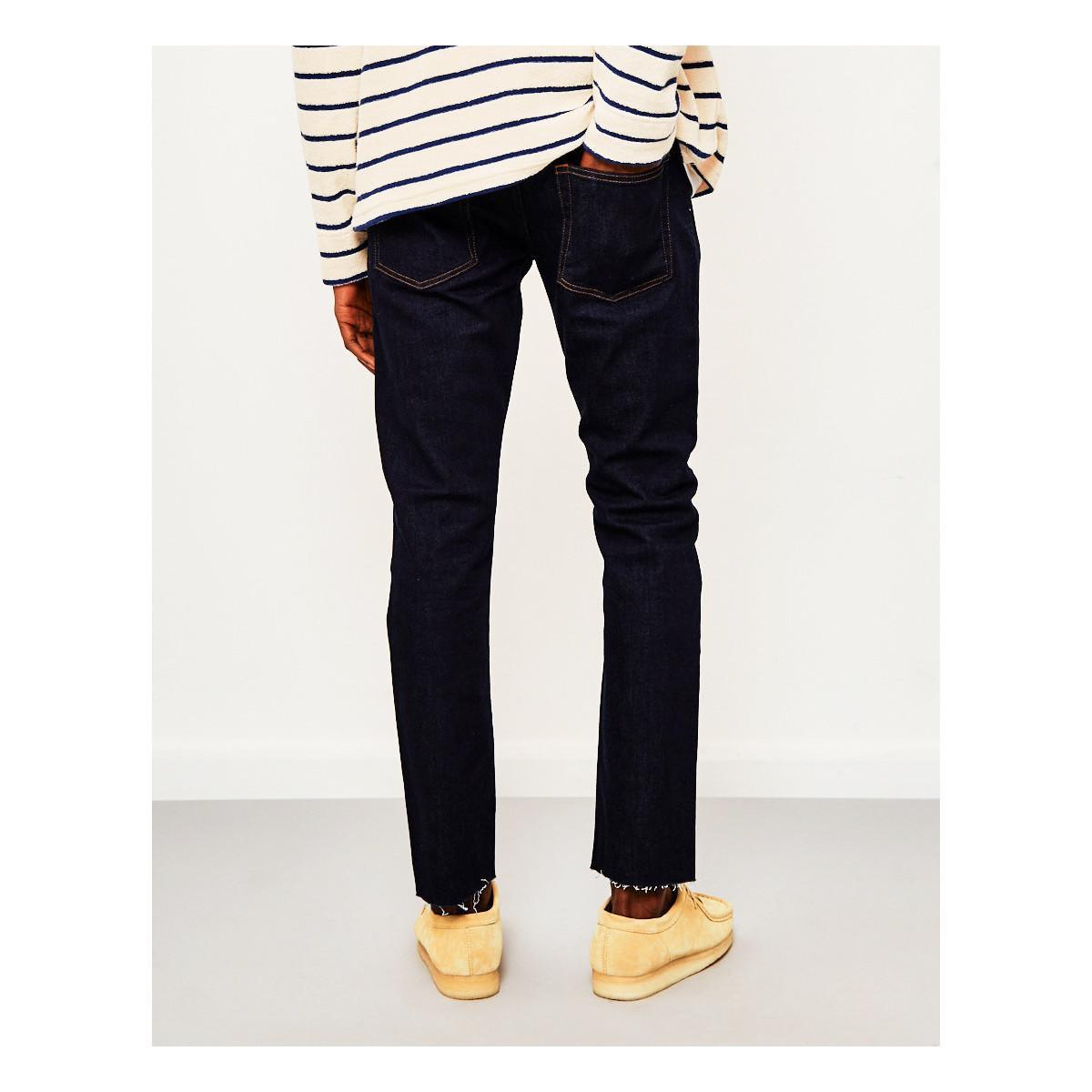 0d12c760f37 The Idle Man Slim Fit Raw Hem Jeans Rinse Wash raw Men s Jeans In ...
