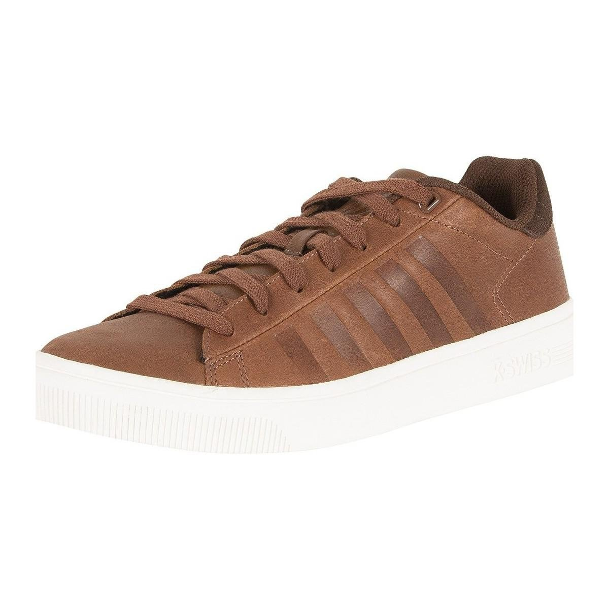 k swiss s court frasco trainers brown s shoes
