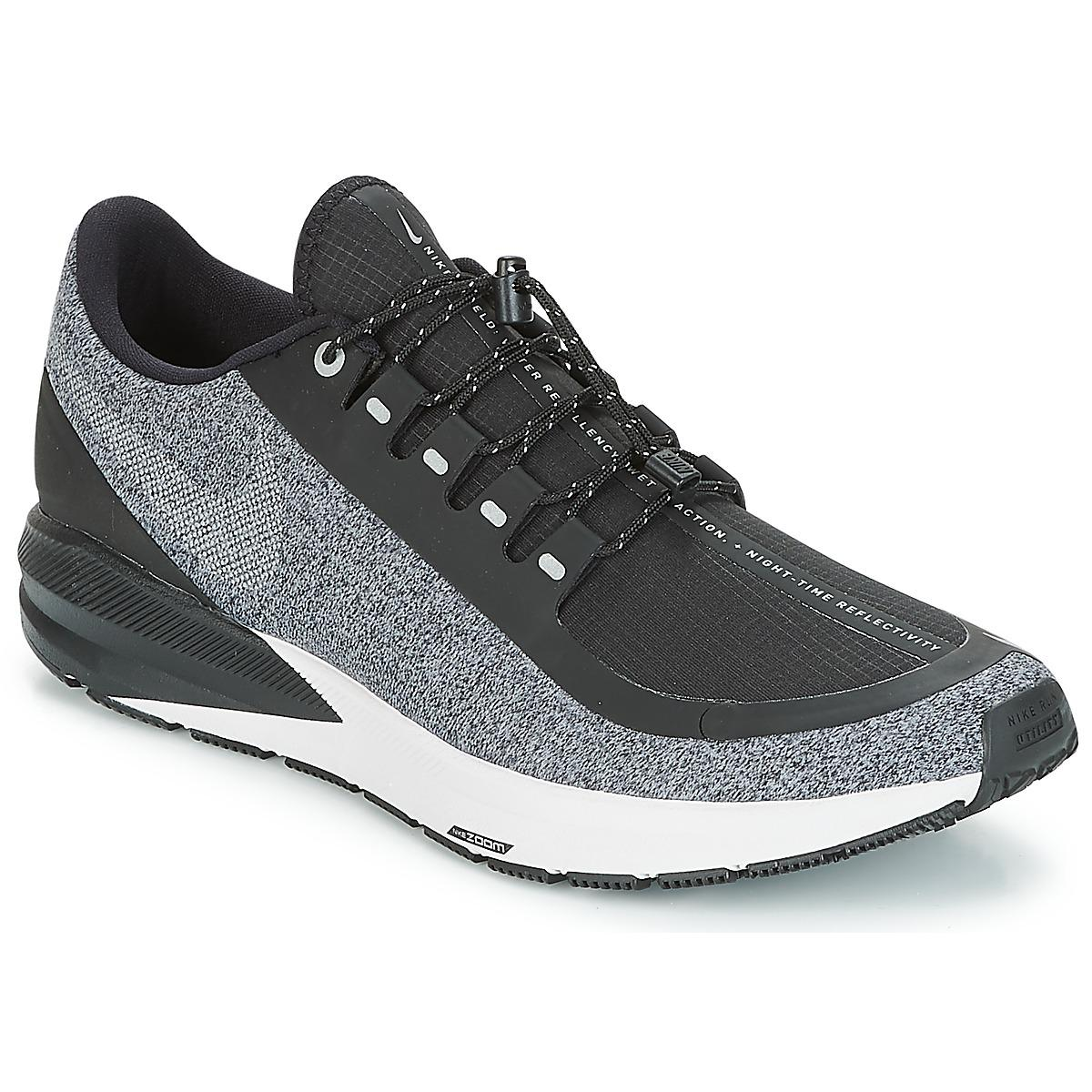 ceab9994581a7 Nike Air Zoom Structure 22 Shield Running Trainers in Black for Men ...