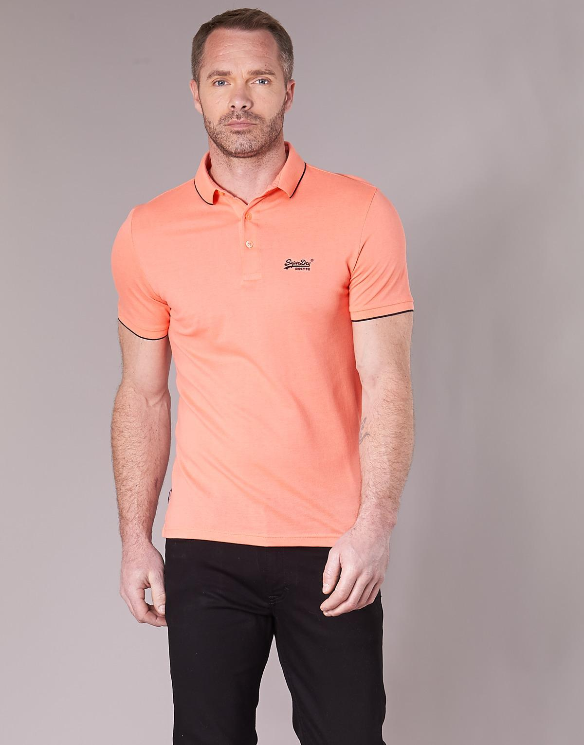 Superdry Pink Polo Shirt Mens Rockwall Auction