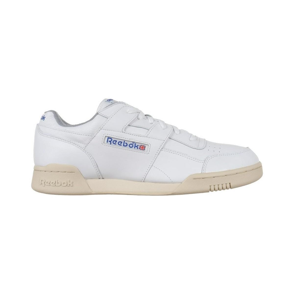 59745b18b43db1 Reebok Classic Workout Plus R12 Men s Shoes (trainers) In White in ...