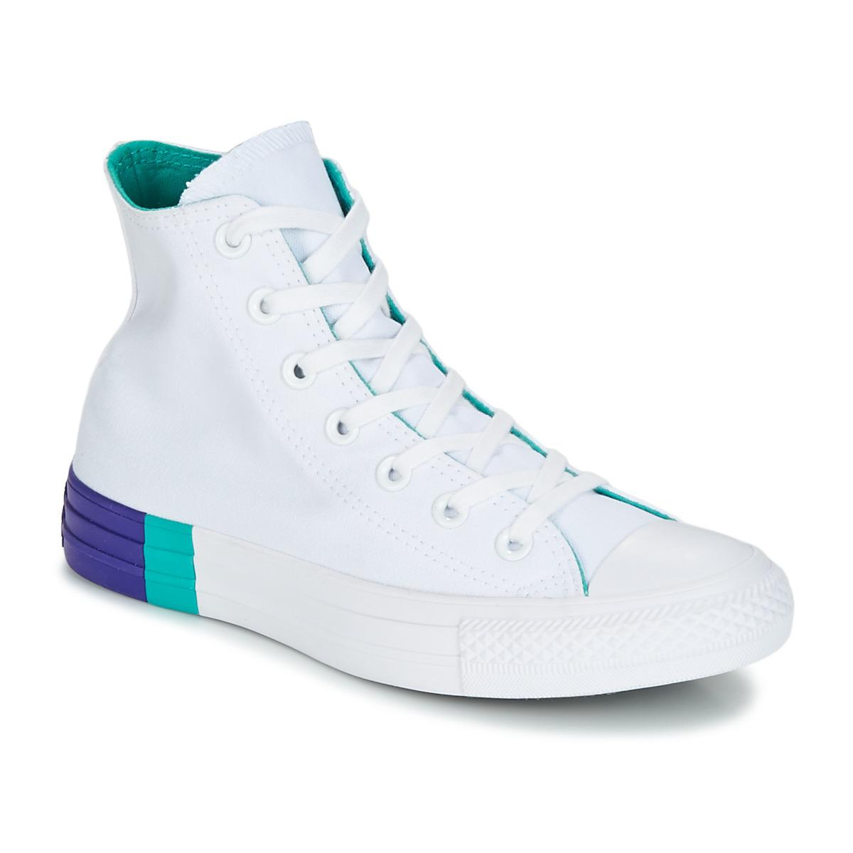 Converse. Chuck Taylor All Star Hi Tri-block Midsole Women\u0027s Shoes (high-top  Trainers) In White