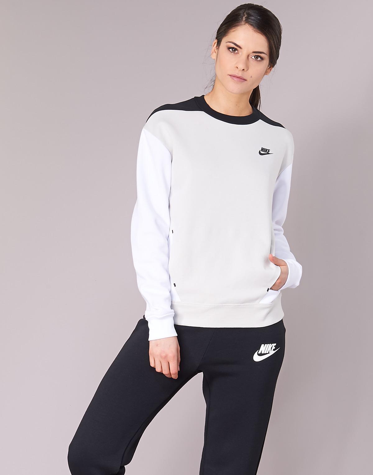 c326866e Nike Tech Fleece Crew Women's Sweatshirt In Grey in Gray - Lyst