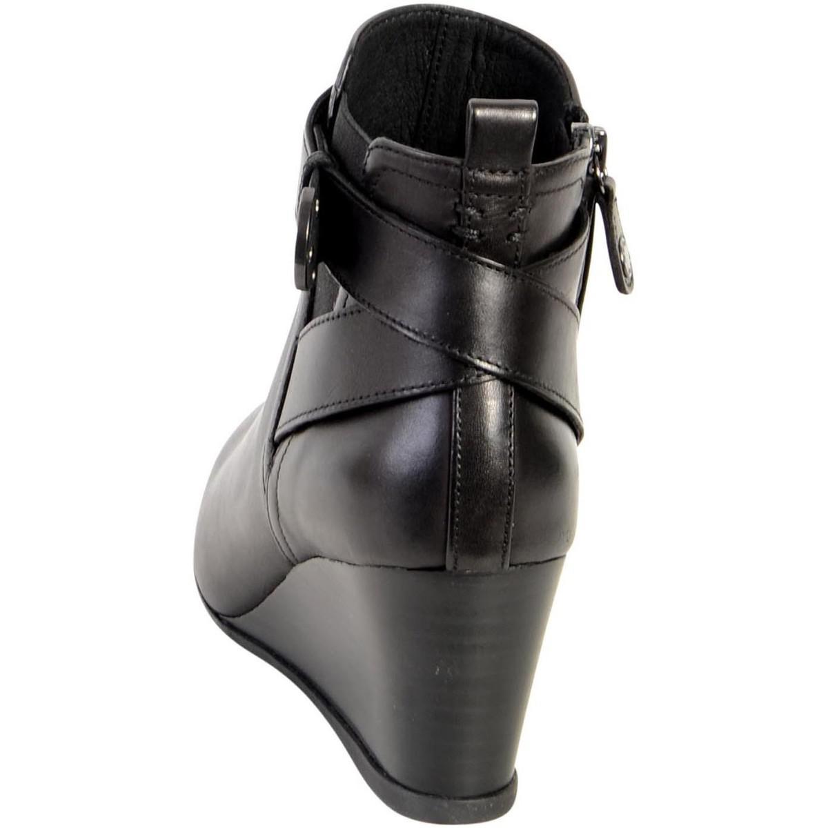 0f9f53413583 Geox Boots D Inspiration Wedge D745zd 00043 C9999 Black Women s Low ...