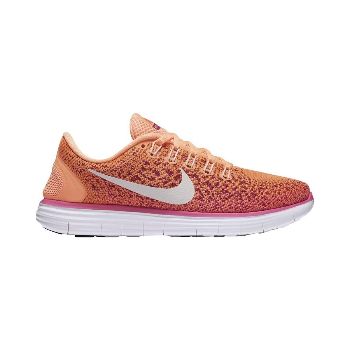 f79d713cb68f Nike W Free Rn Distance Peach Cream Women s Shoes (trainers) In ...