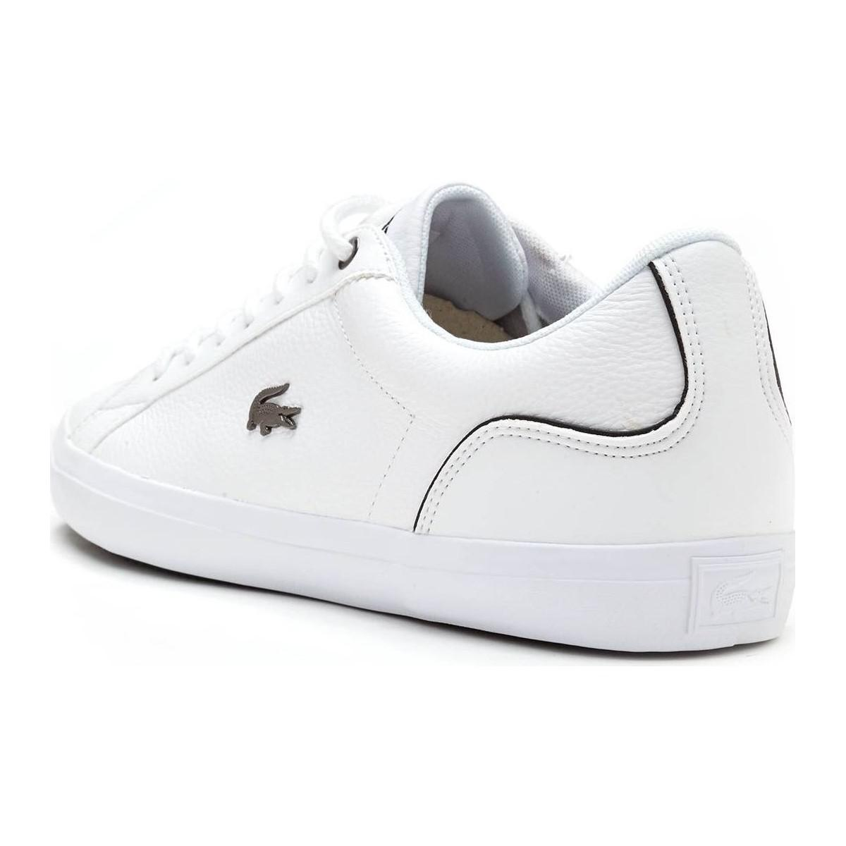 7b513a27d Lacoste Lerond 317 4 Cam In White Black 734cam0090 147 Men s Shoes ...