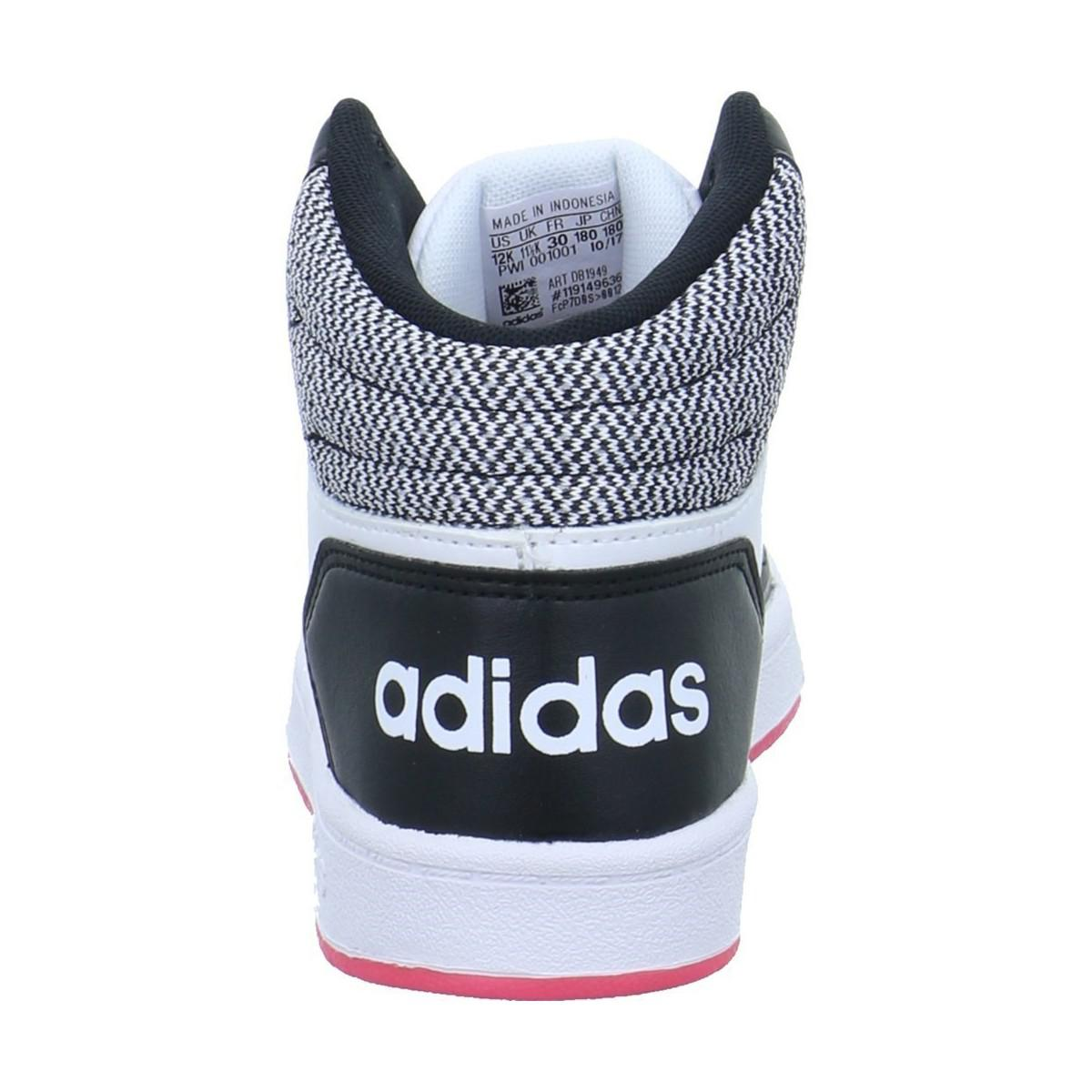 huge selection of 7c738 f729e adidas Vs Hoops Mid 20 Mens Shoes (high-top Trainers) In Whi