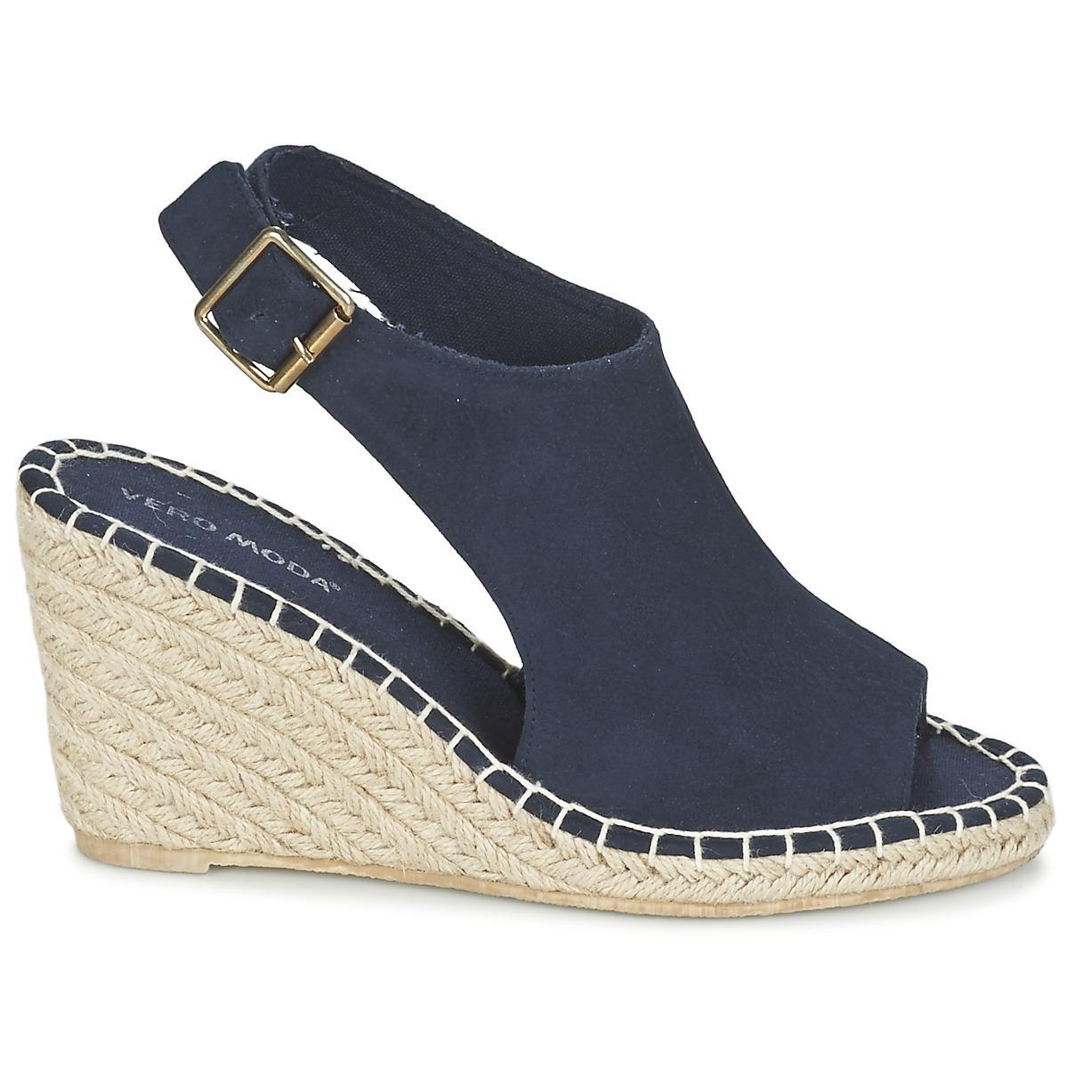 0b93de6dc96e Vero Moda Vmlina Wedge Sandal Women s Sandals In Blue in Blue - Lyst