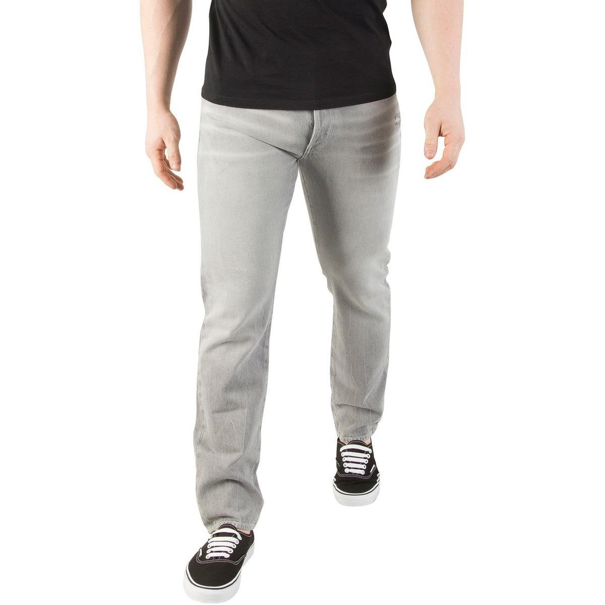G-Star RAW. Gray Men\u0027s 3301 Tapered Ripped Jeans ...