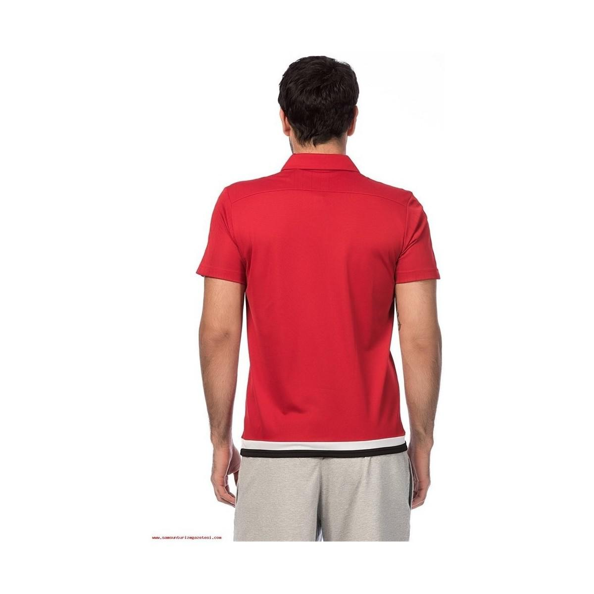 73dcece04 Adidas Polo Tiro 15 Cl Men s T Shirt In Red in Red for Men - Lyst